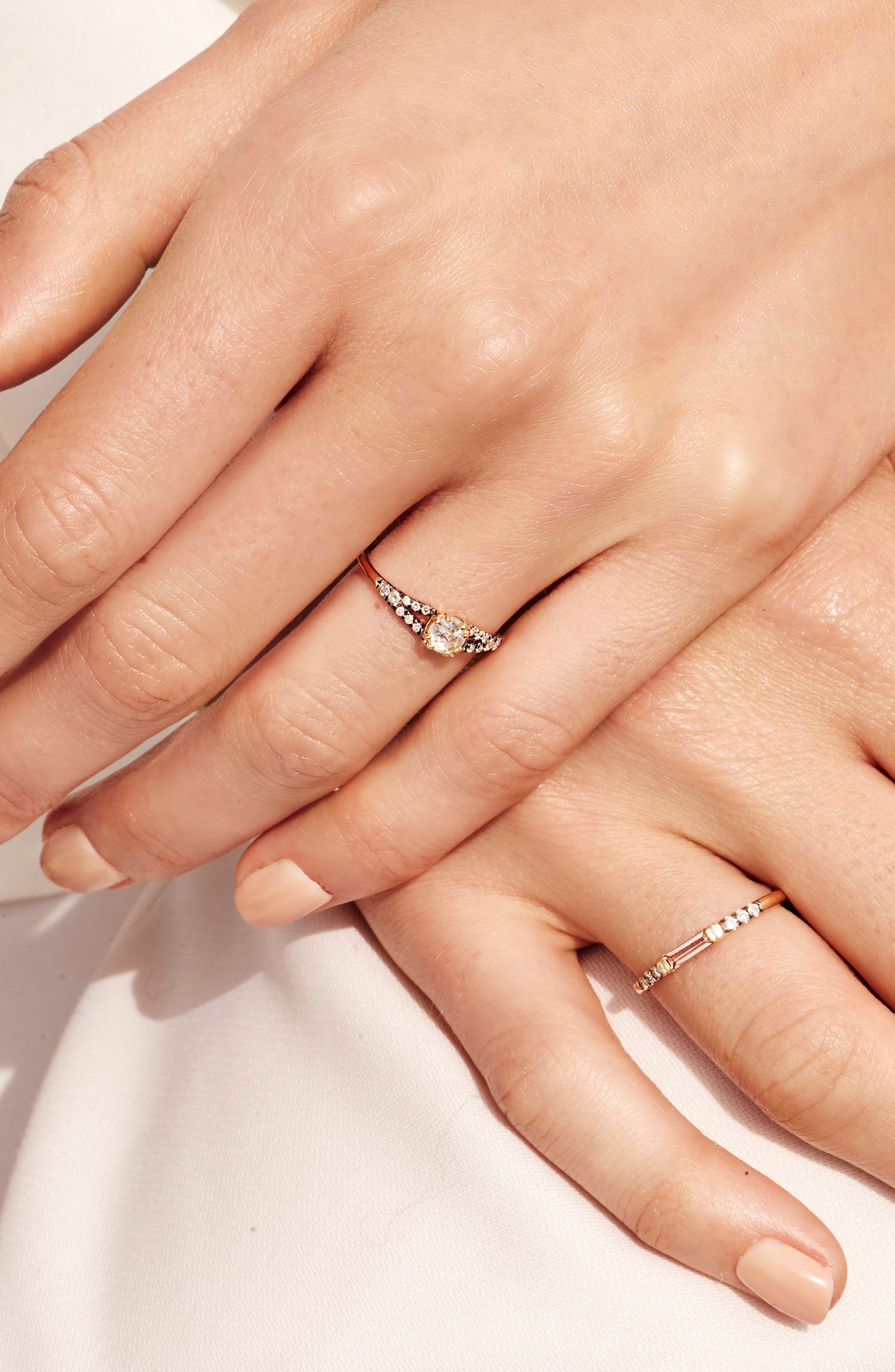 Devotion Solitaire Diamond Ring,                             Alternate thumbnail 3, color,                             White Gold