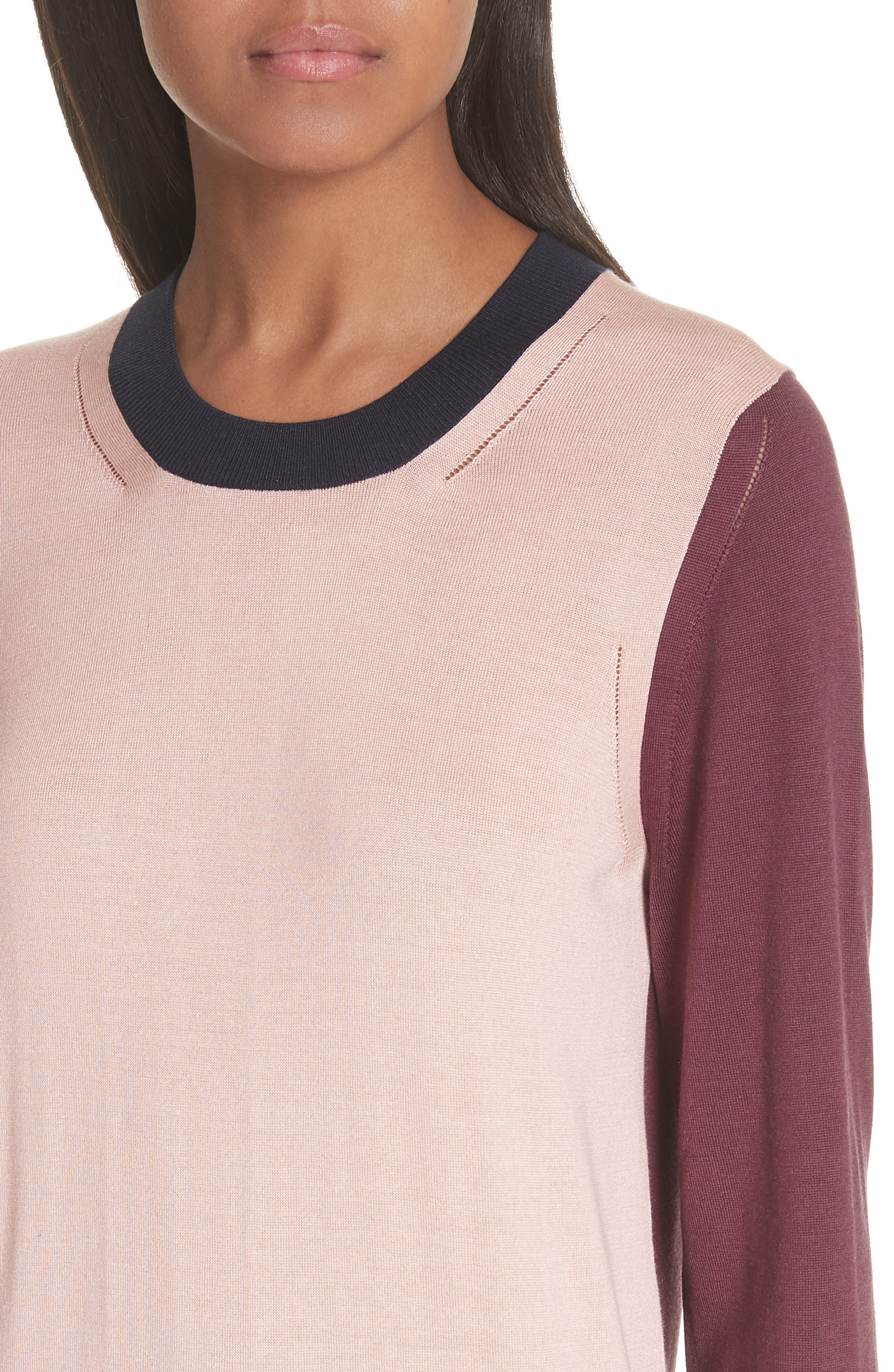 Buck 57 Silk & Cashmere Sweater,                             Alternate thumbnail 4, color,                             Pink Apricot