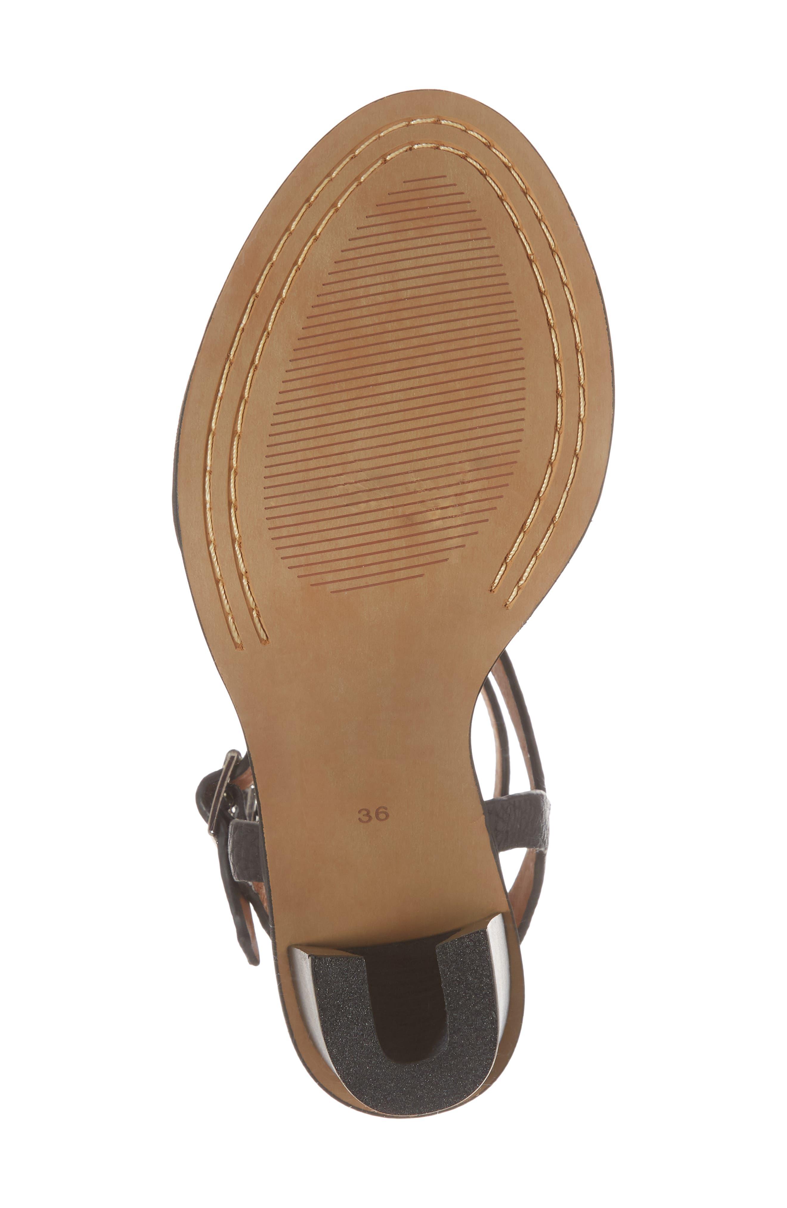 Elapse Sandal,                             Alternate thumbnail 6, color,                             Black Leather