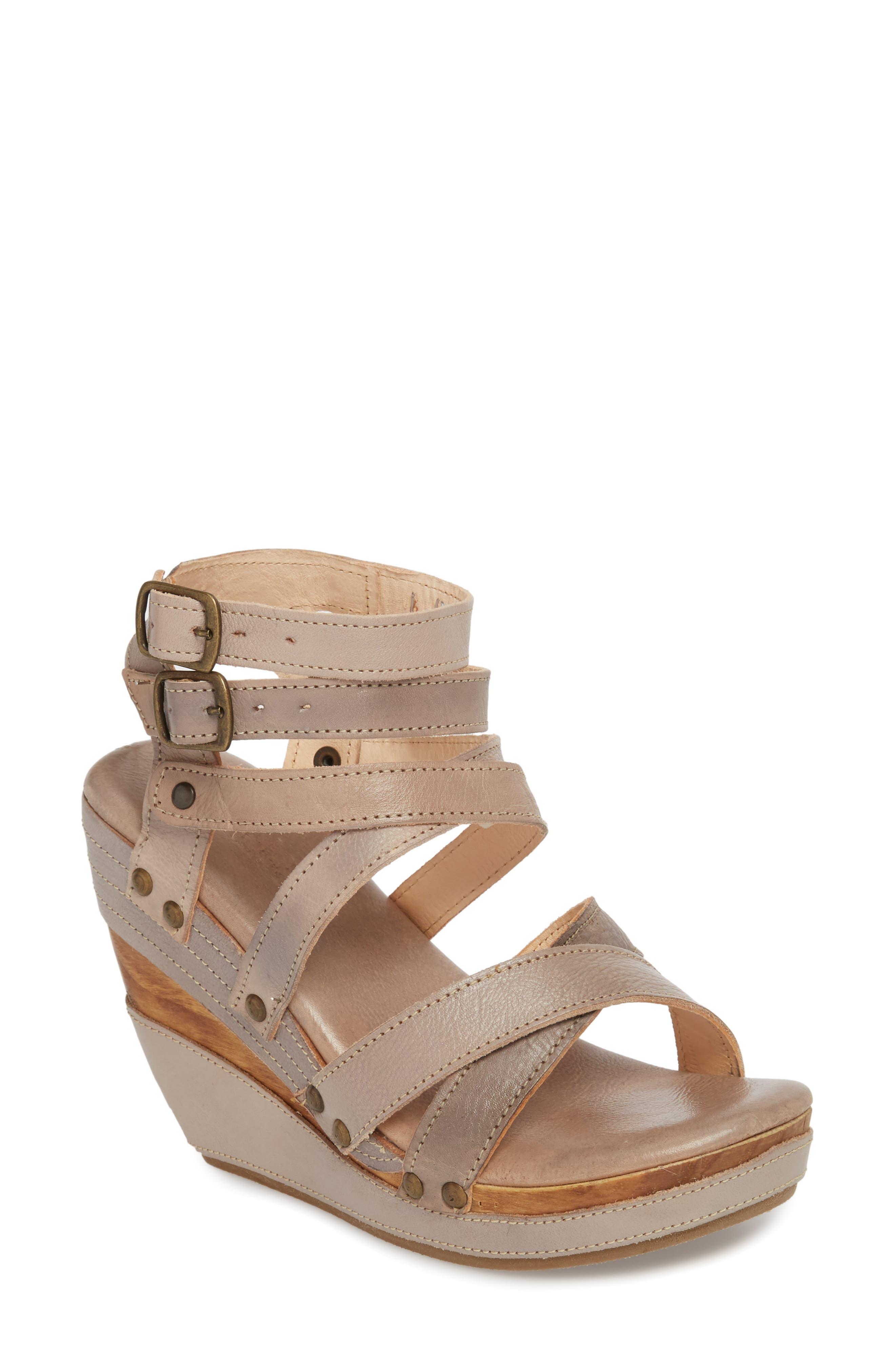 'Juliana' Sandal,                             Main thumbnail 1, color,                             Light Grey Leather
