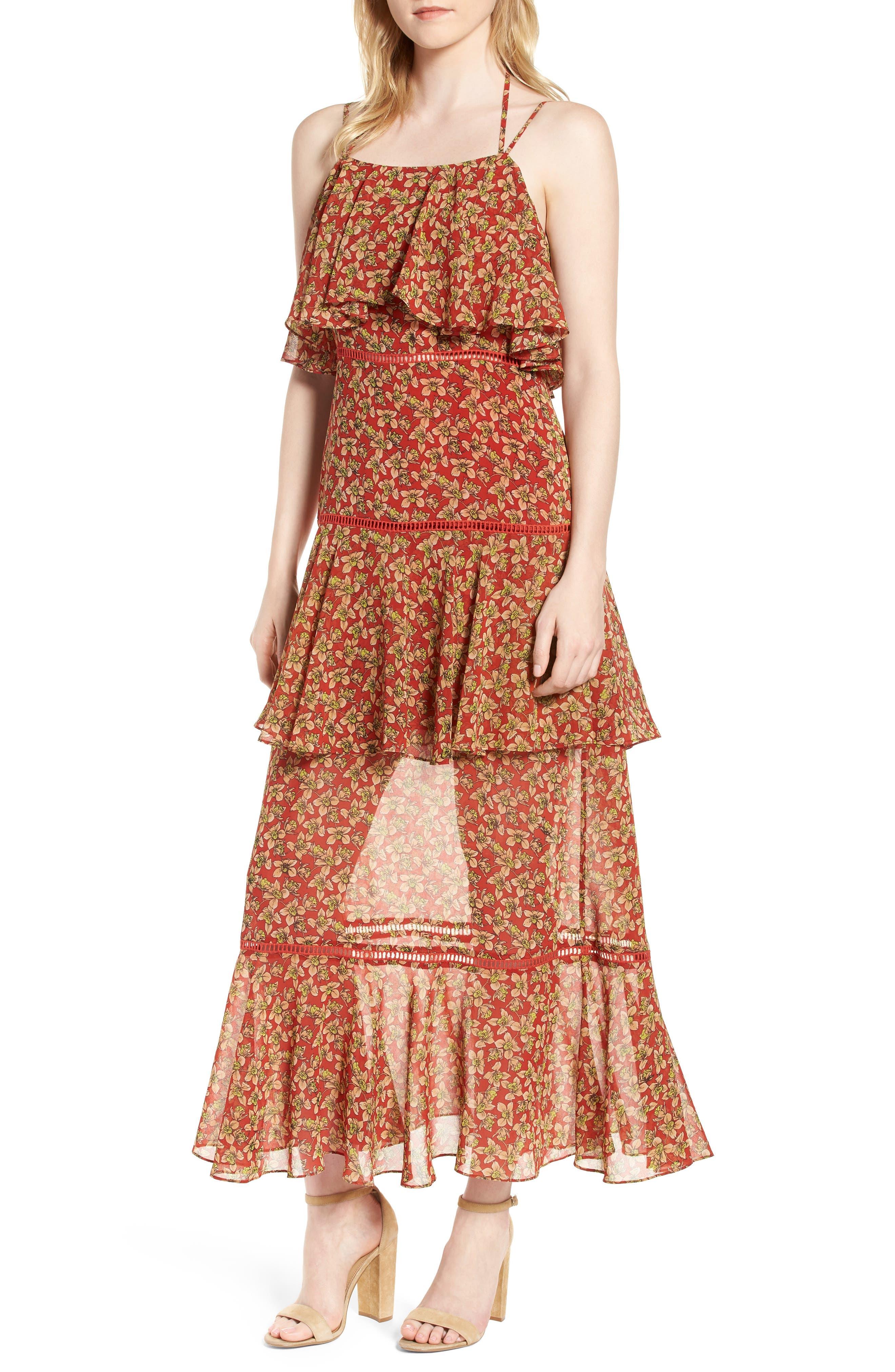 Rebecca Minkoff Clarissa Floral Tiered Maxi Dress