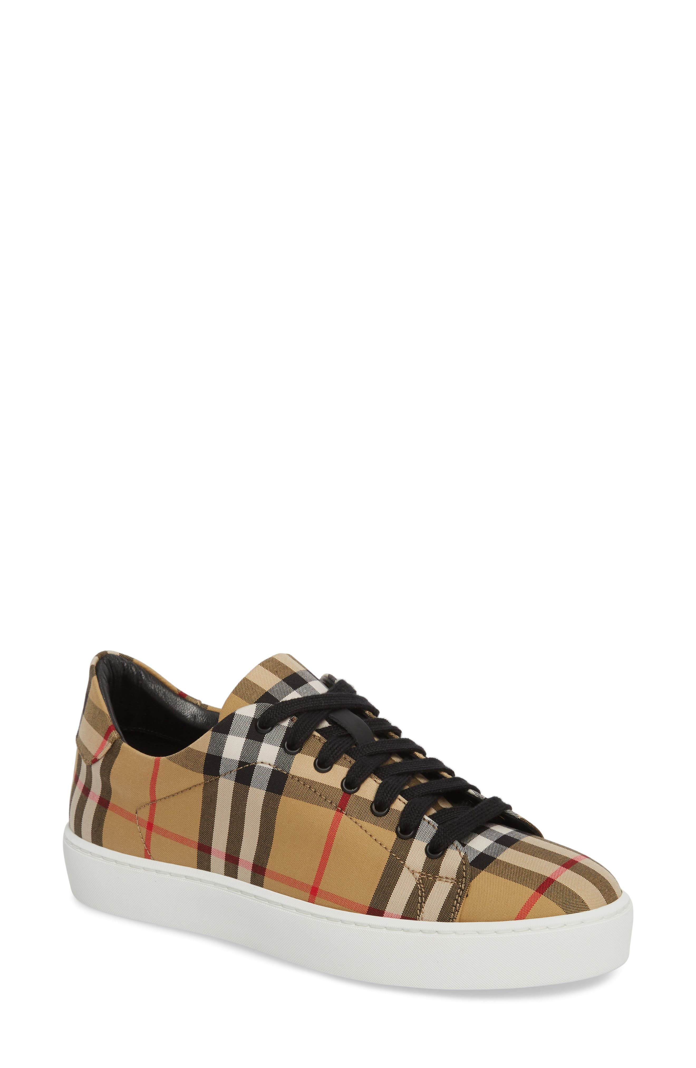 Westford Check Sneaker,                         Main,                         color, Antique Yellow