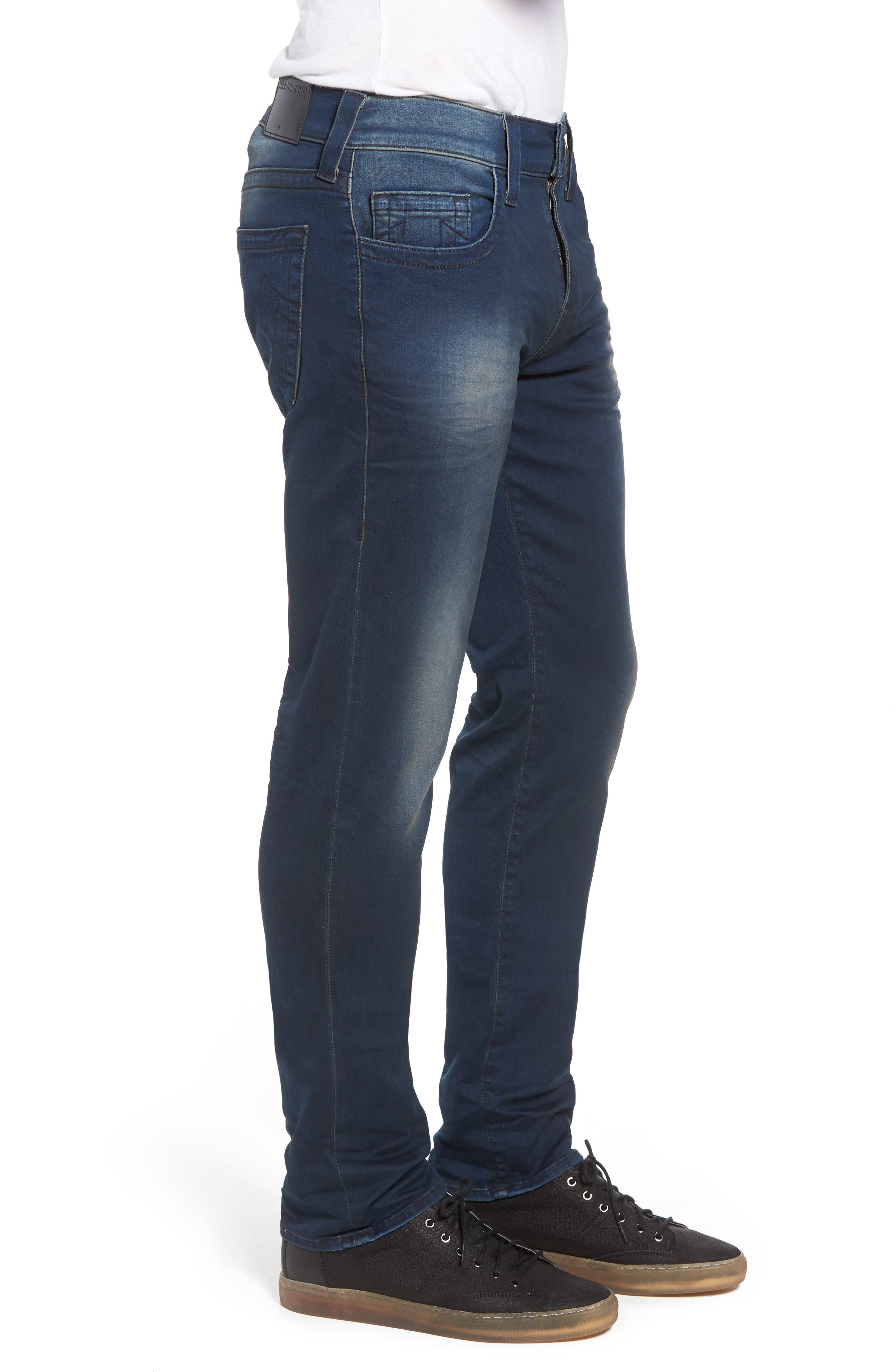 Geno Straight Leg Jeans,                             Alternate thumbnail 3, color,                             Dark Navy