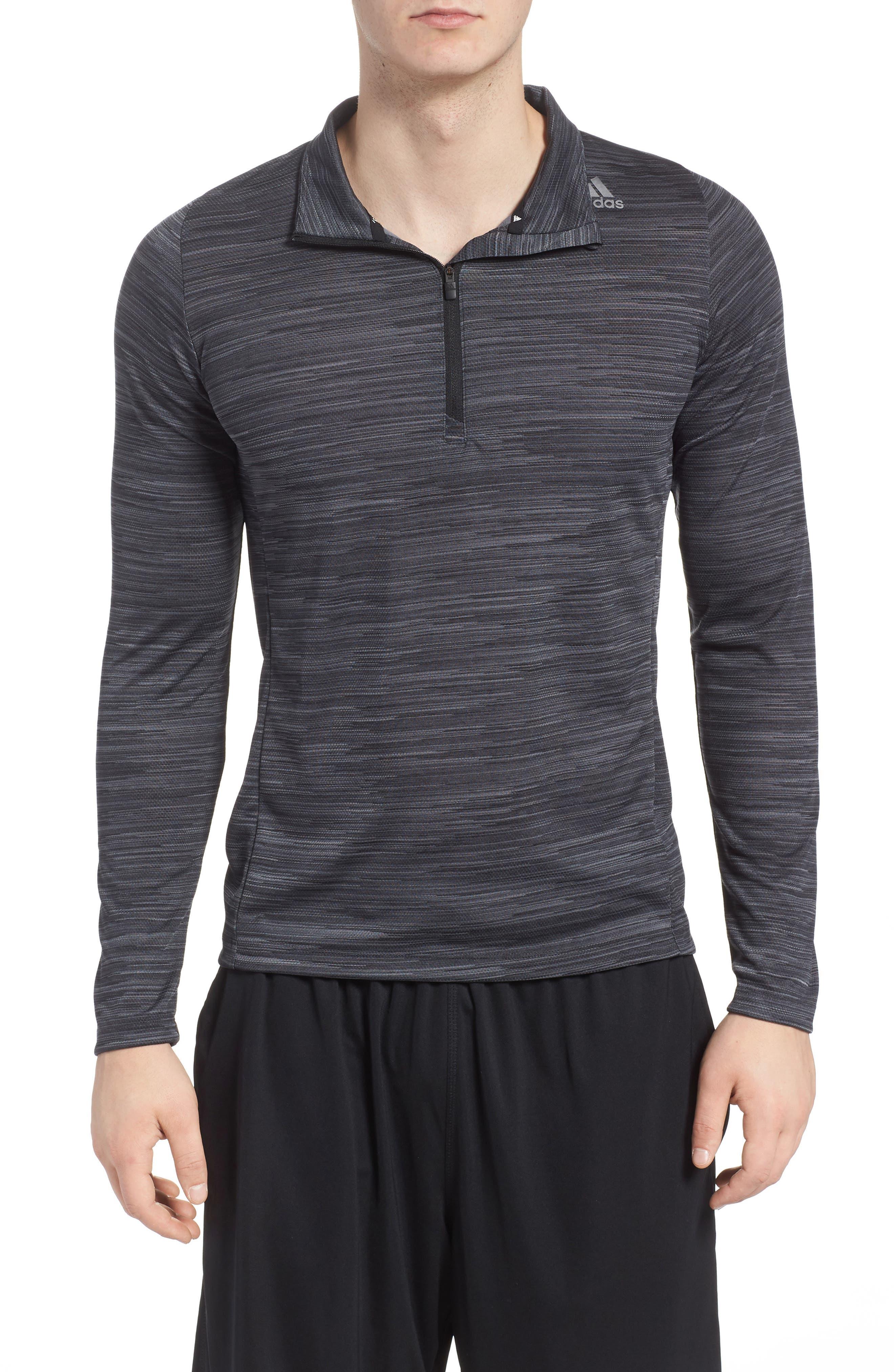 Ultimate Tech Quarter Zip Pullover,                         Main,                         color, Carbon