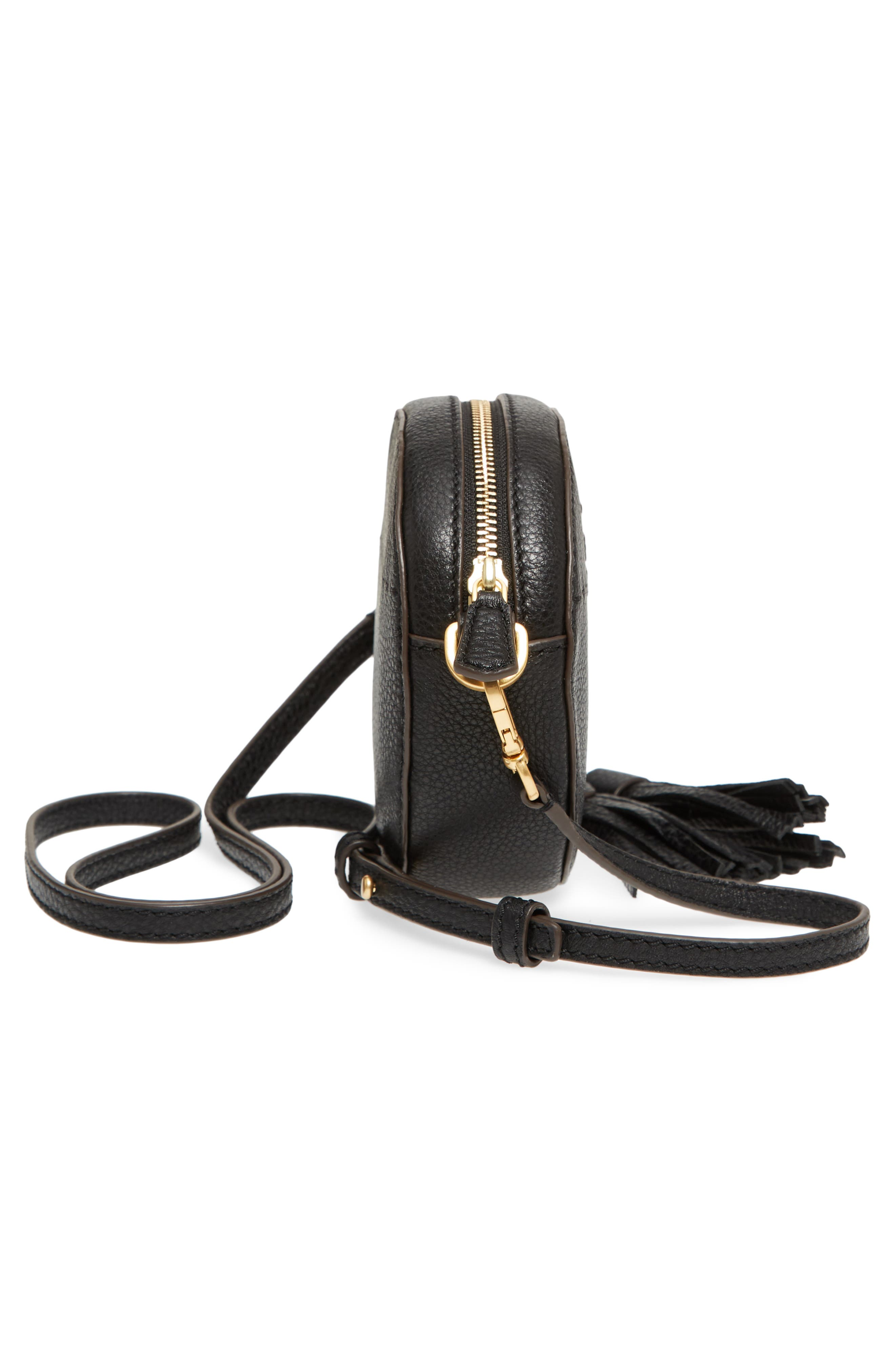 McGraw Leather Crossbody Bag,                             Alternate thumbnail 5, color,                             Black