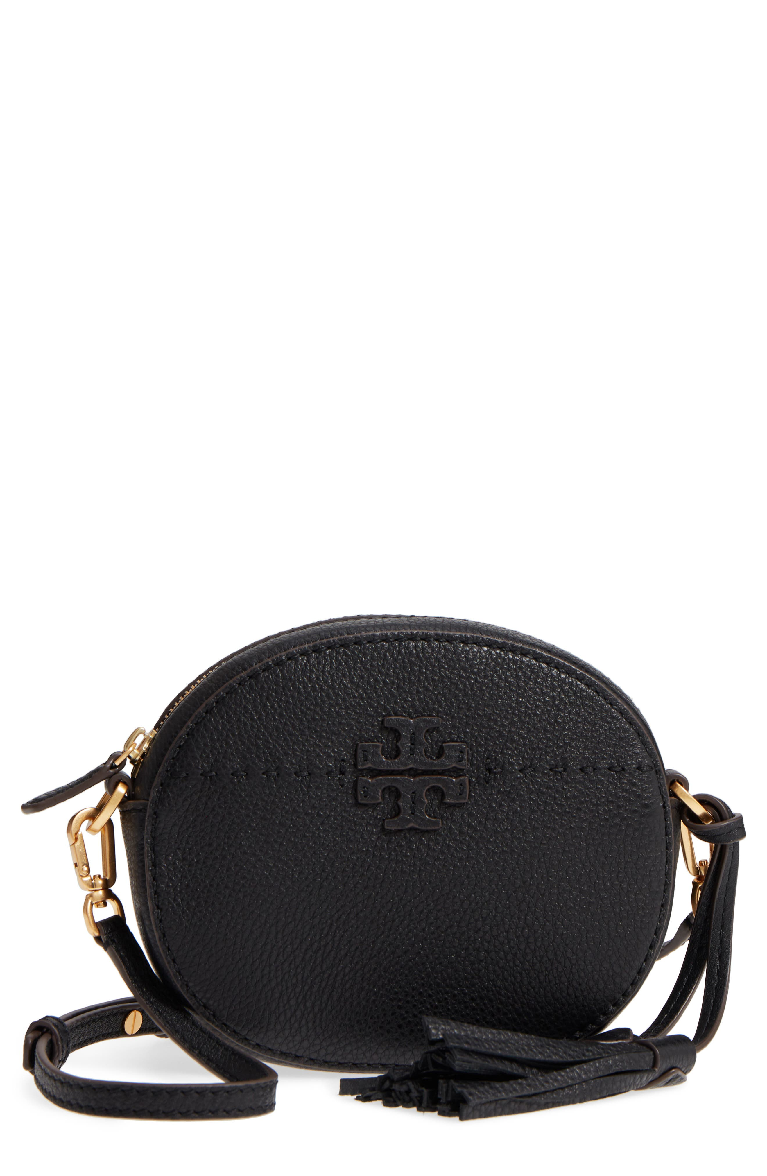 McGraw Leather Crossbody Bag,                         Main,                         color, Black