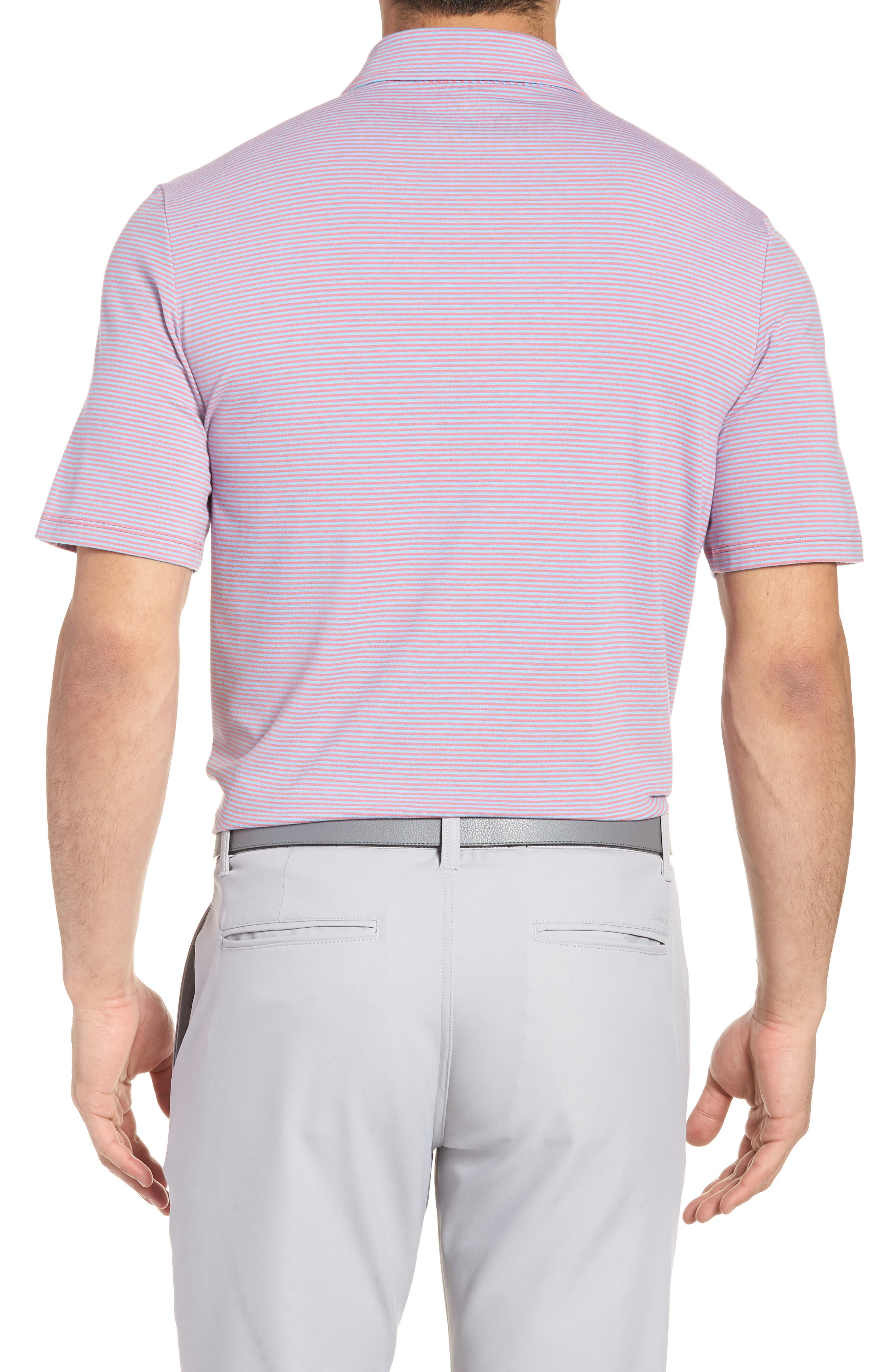 Edgartown Stripe Stretch Polo,                             Alternate thumbnail 2, color,                             Jetty Red