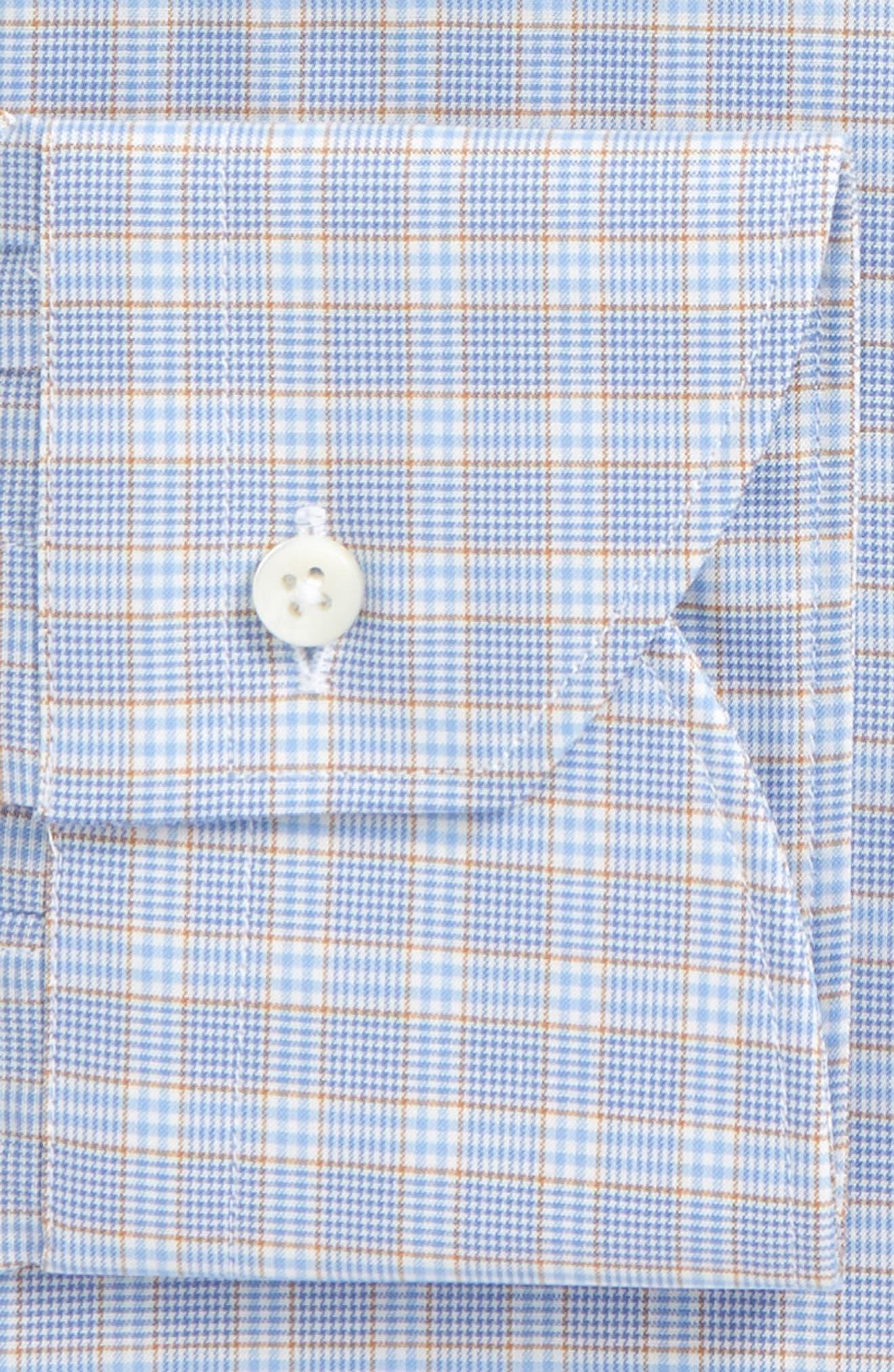 Regular Fit Plaid Dress Shirt,                             Alternate thumbnail 2, color,                             Blue
