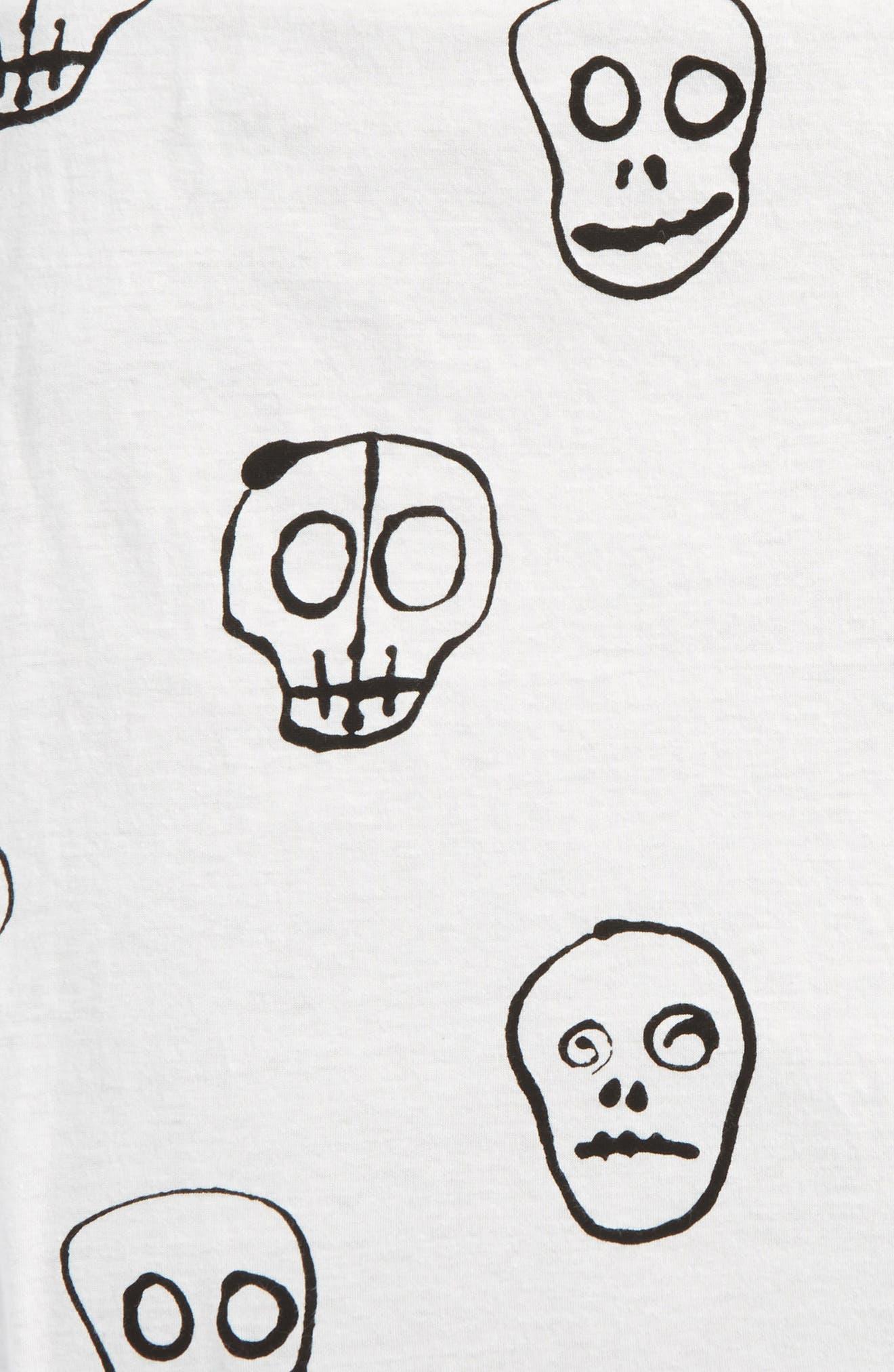 Skull Mask Blanket,                             Alternate thumbnail 2, color,                             White