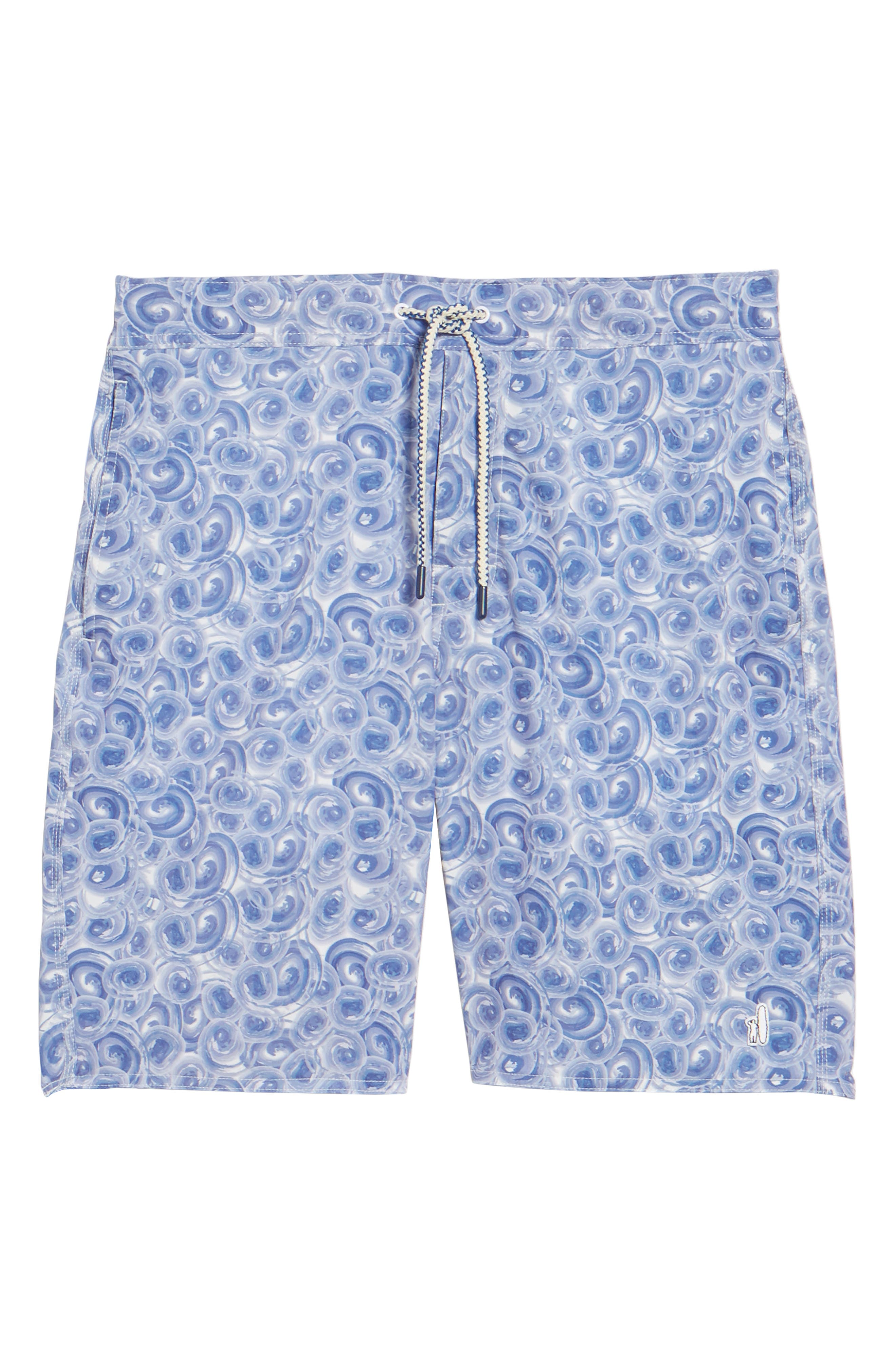 High Tide Regular Fit Board Shorts,                             Alternate thumbnail 6, color,                             Gulf Blue