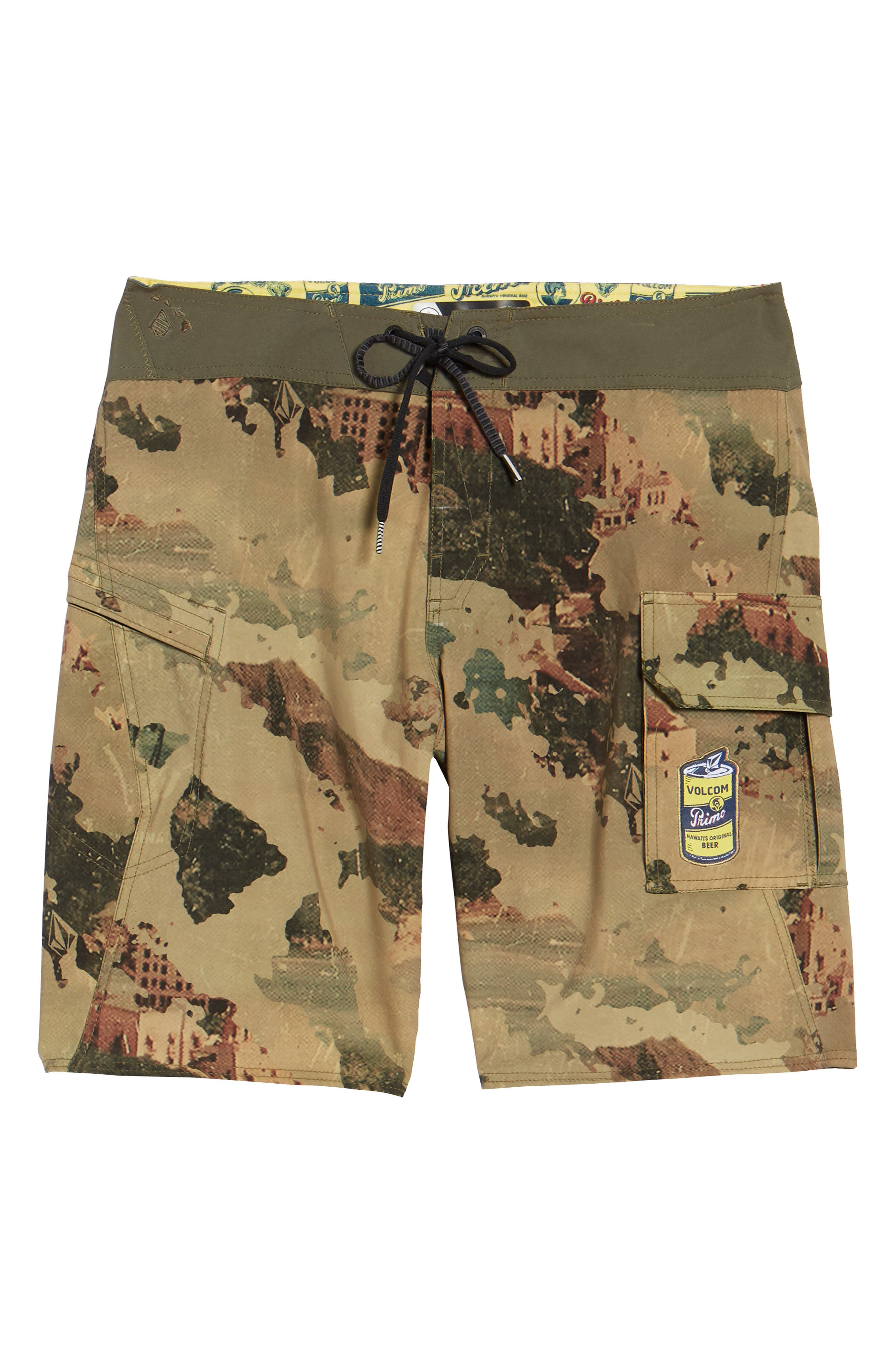 Primo Beer Board Shorts,                             Alternate thumbnail 6, color,                             Camouflage