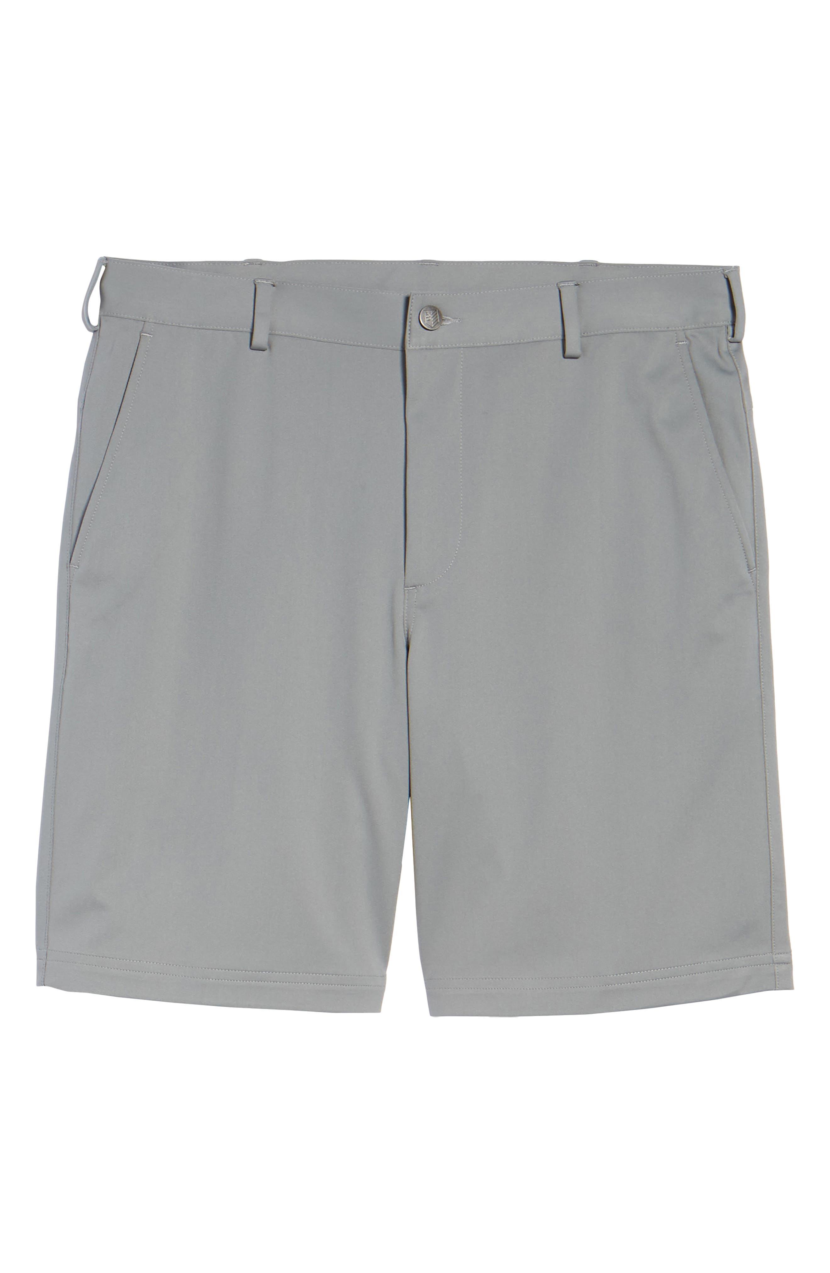 Trim Fit Tech Chino Shorts,                             Alternate thumbnail 6, color,                             Graphite Heather