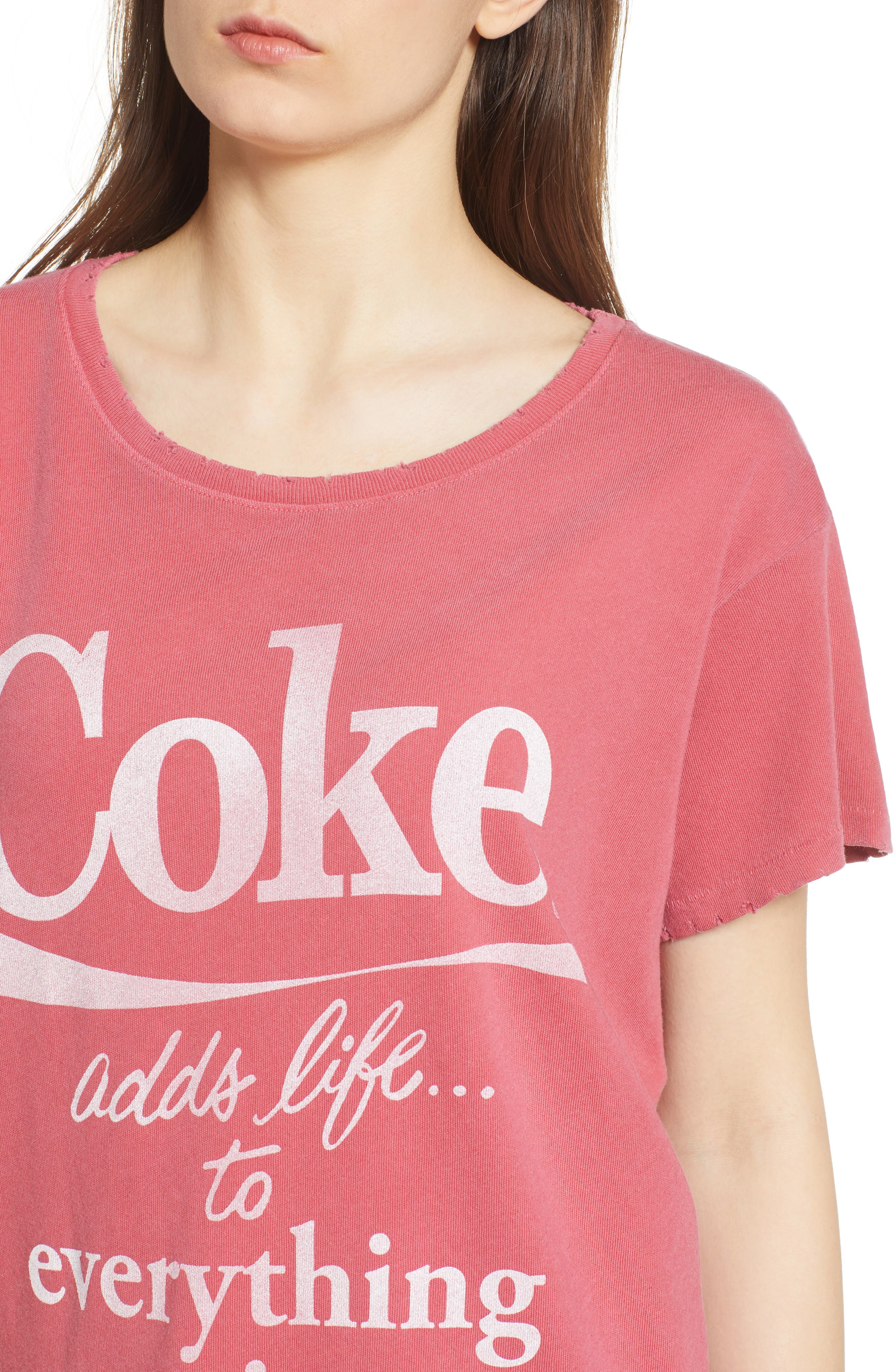 Coke Tee,                             Alternate thumbnail 4, color,                             Washed Red