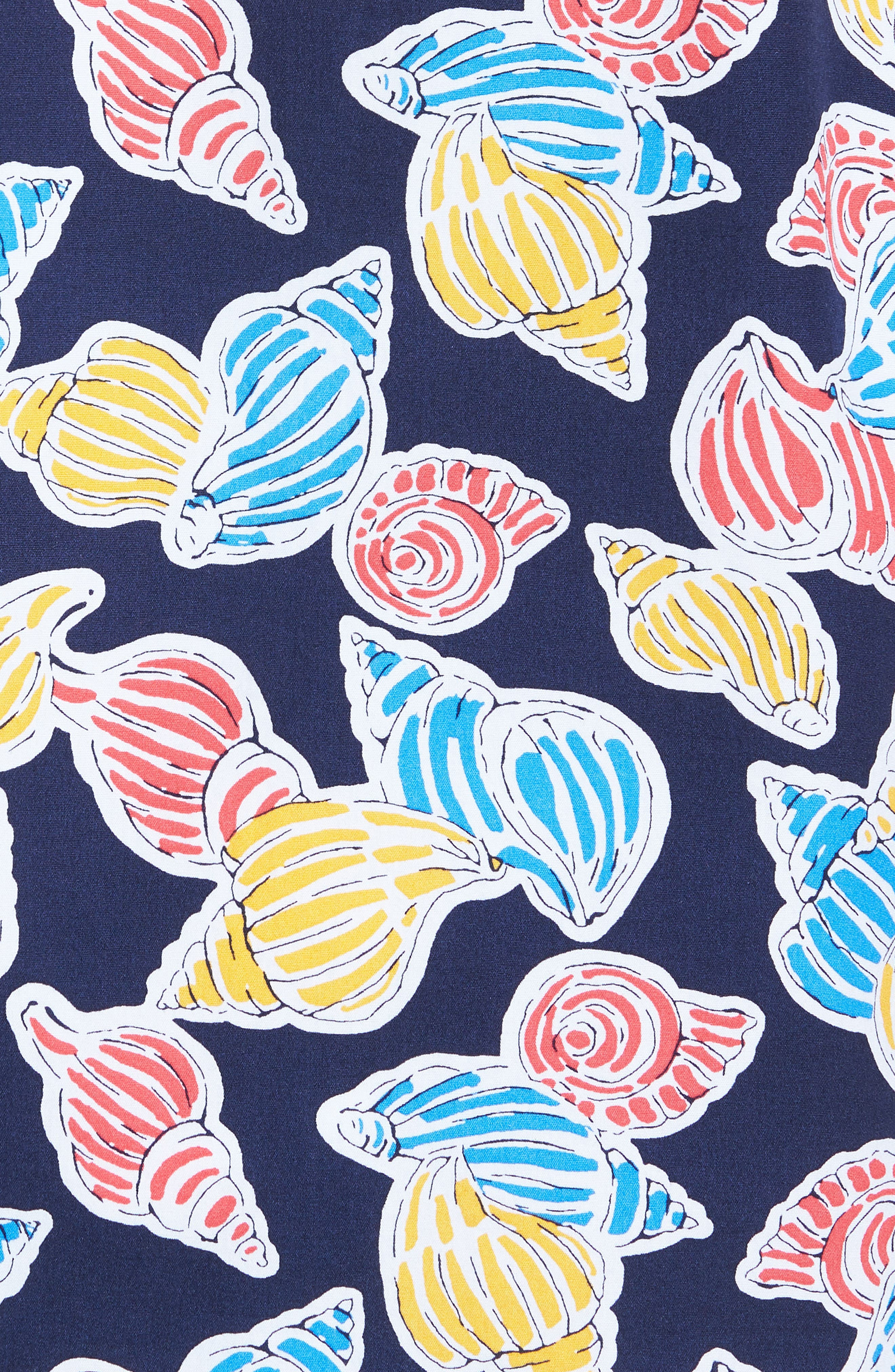Print Nep Woven Shirt,                             Alternate thumbnail 5, color,                             Navy Shell Print