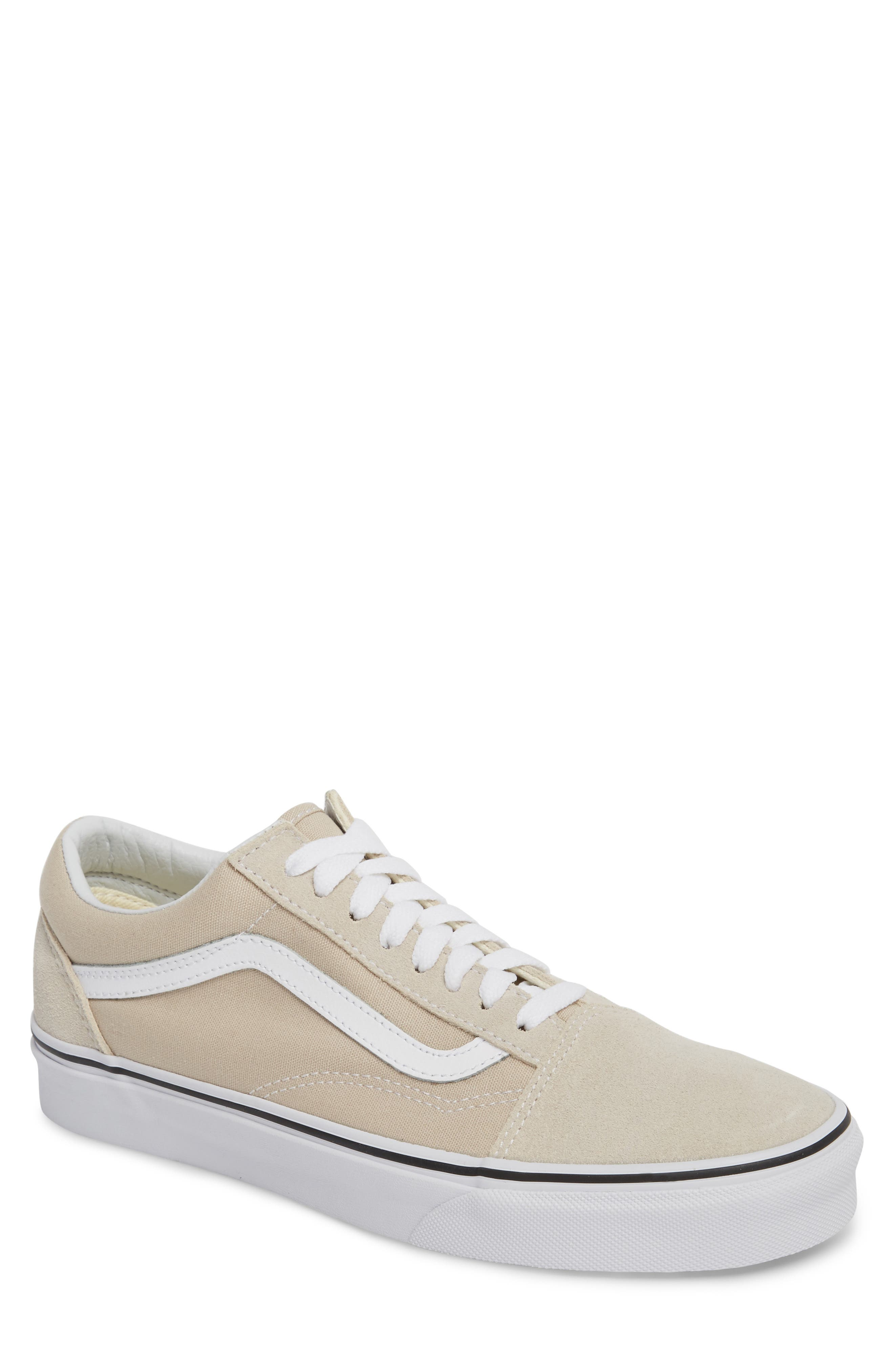 Old Skool Low Top Sneaker,                             Main thumbnail 1, color,                             Silver Lining/ White Leather