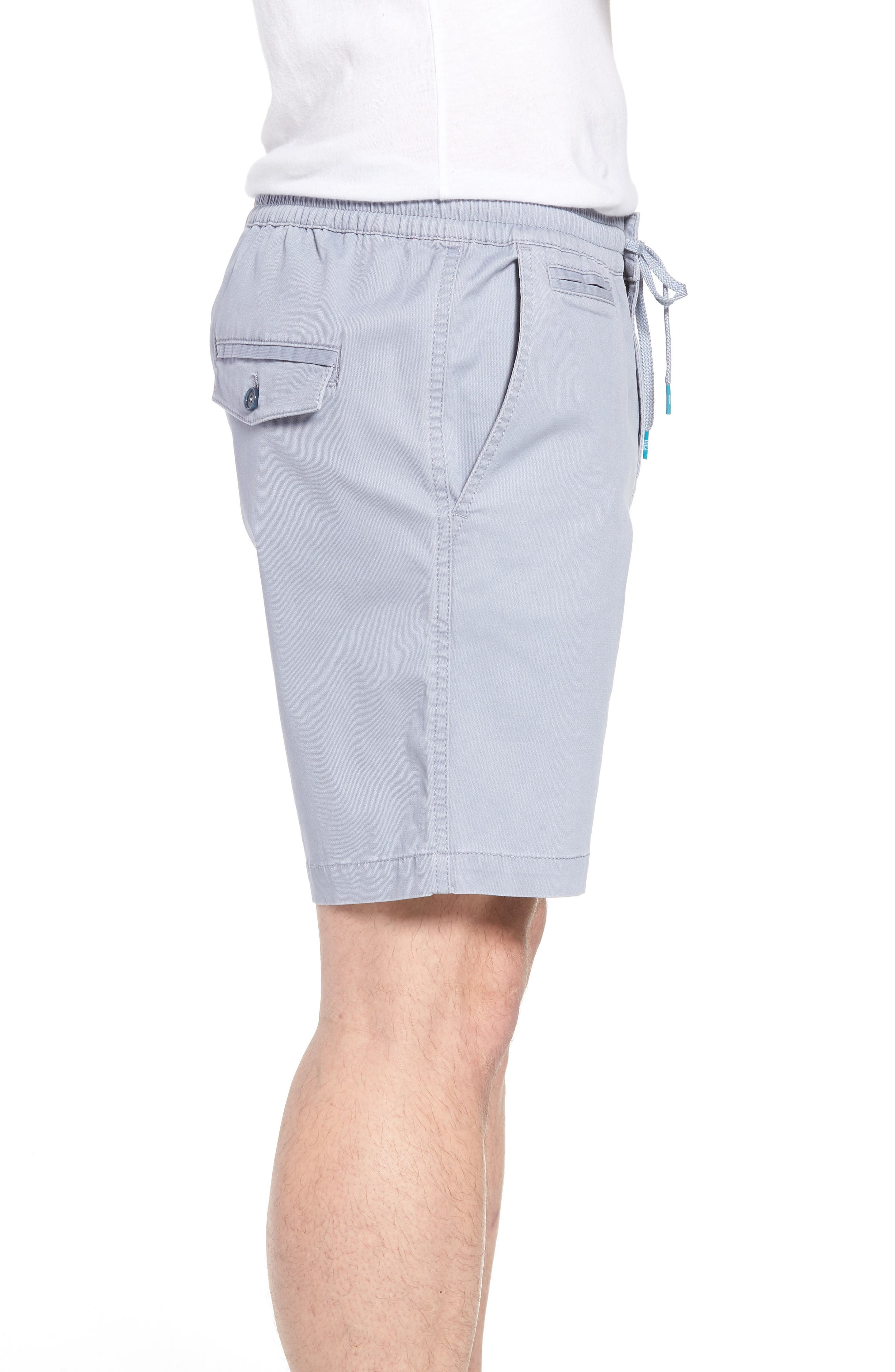 Drawstring Bedford Corduroy Shorts,                             Alternate thumbnail 3, color,                             Silver Blue
