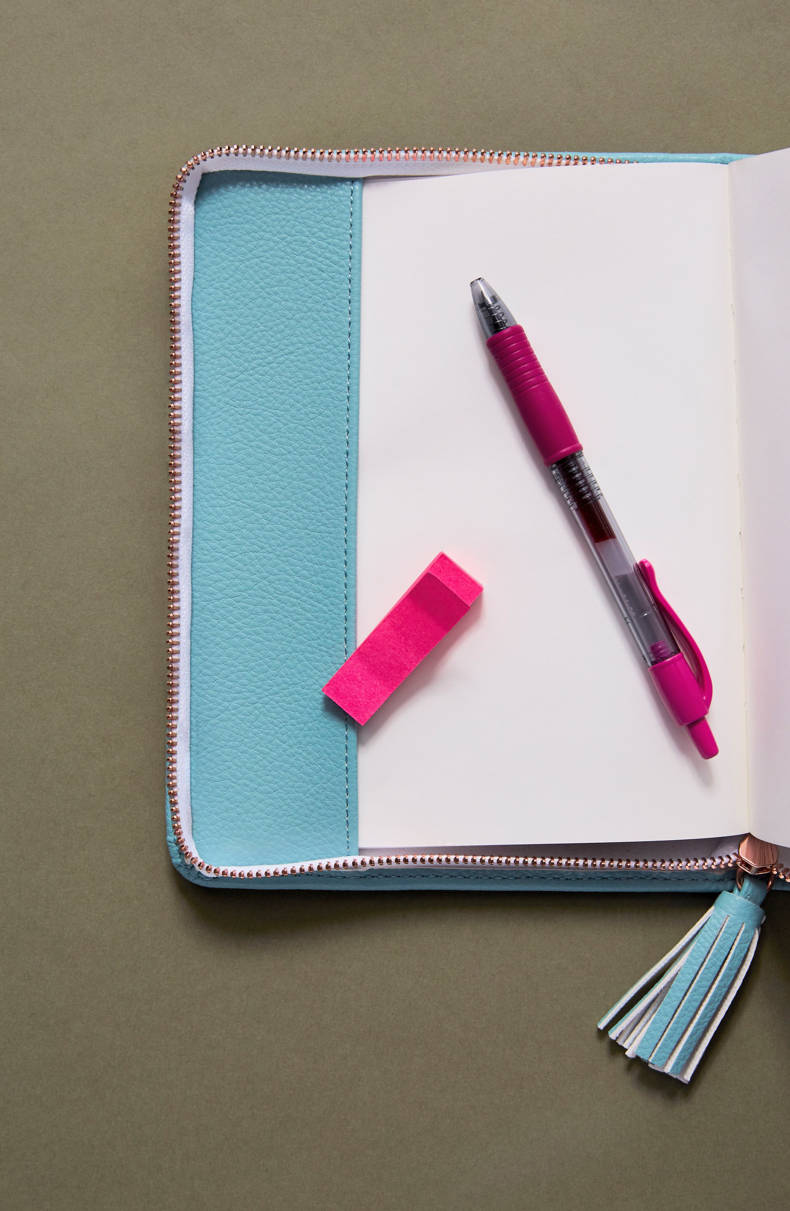 Idiom Leather Journal,                             Alternate thumbnail 3, color,                             Mint