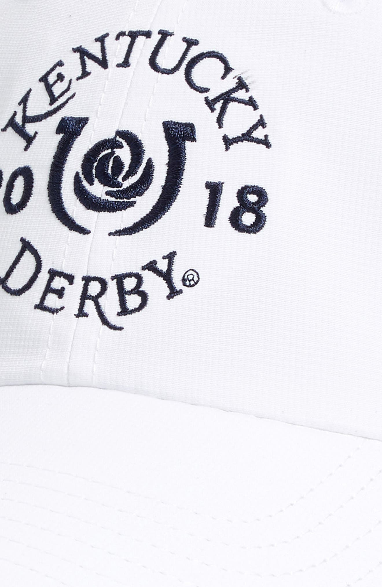 2018 Kentucky Derby<sup>®</sup> Garland of Roses Cap,                             Alternate thumbnail 3, color,                             White Cap