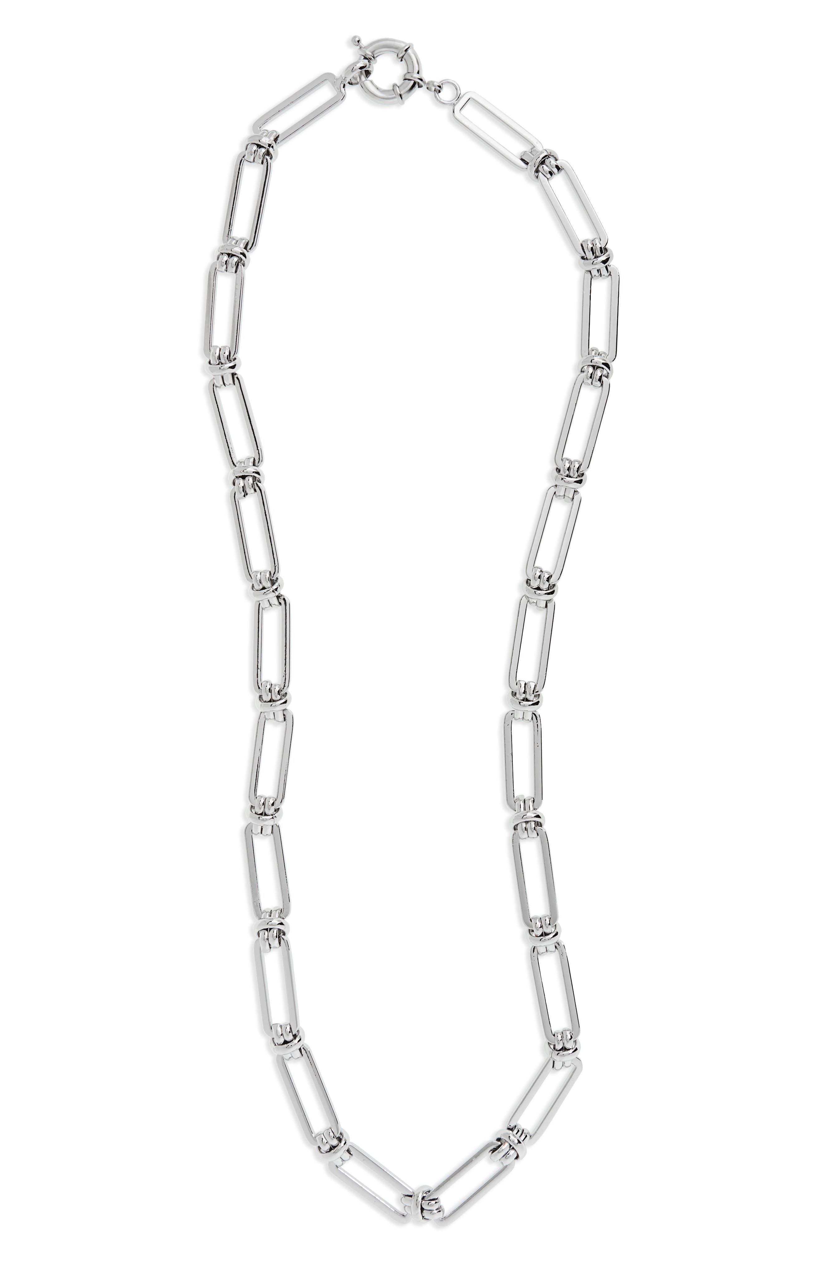 Chain Link Necklace,                             Main thumbnail 1, color,                             Silver