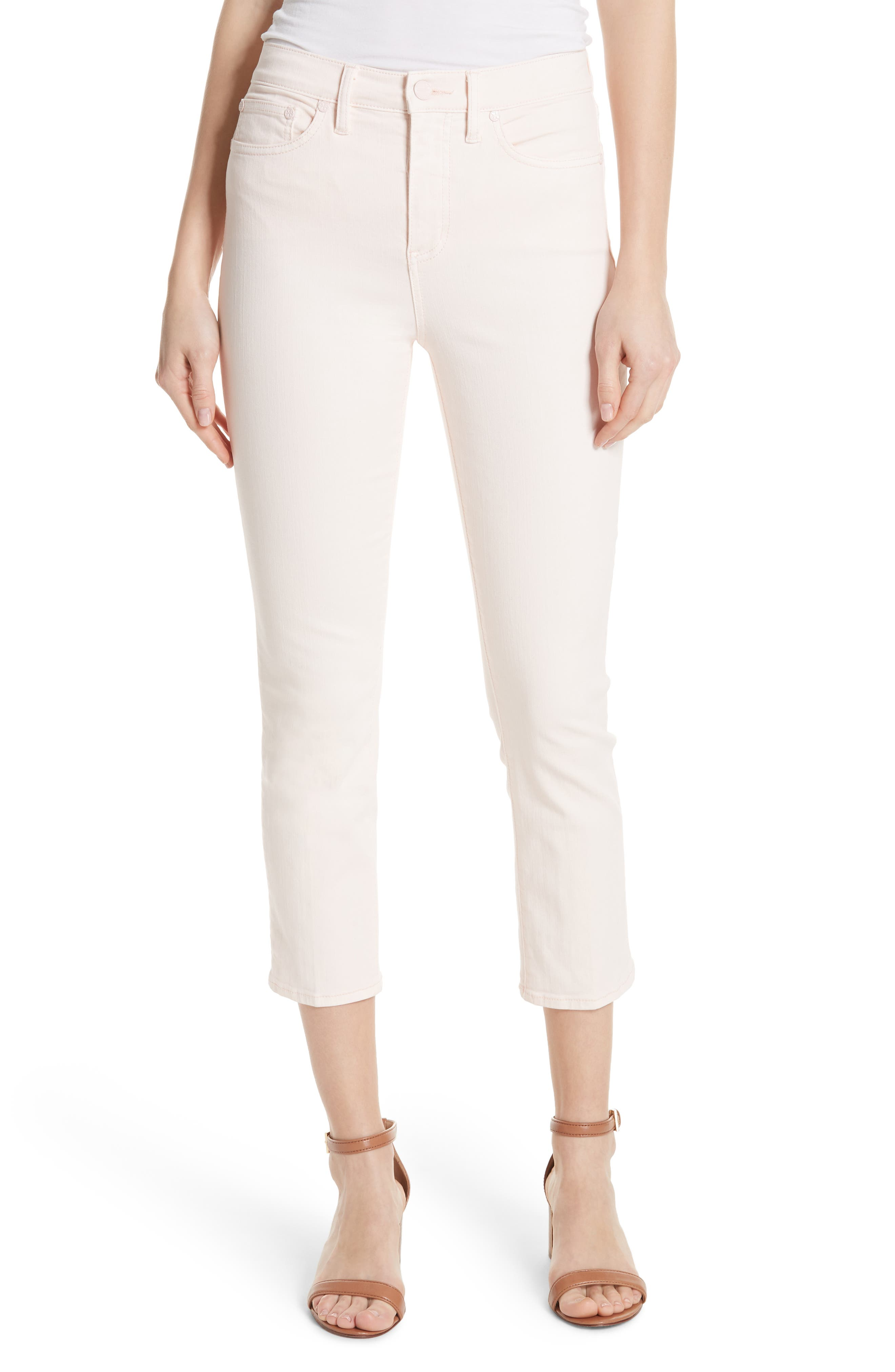 Mara Crop Skinny Jeans,                             Main thumbnail 1, color,                             Ballet Pink