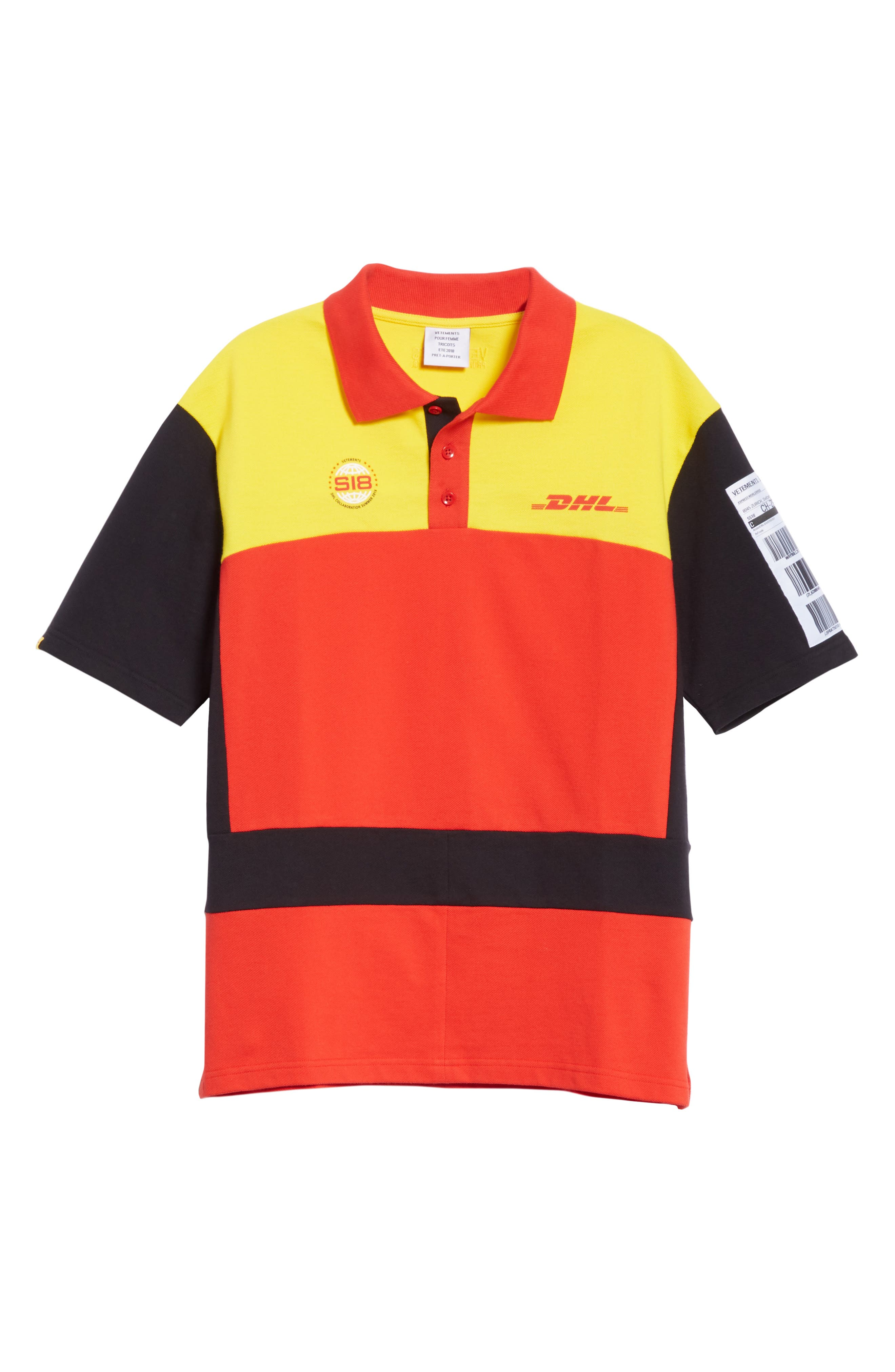 DHL Slim Fit Polo,                             Alternate thumbnail 6, color,                             Yellow