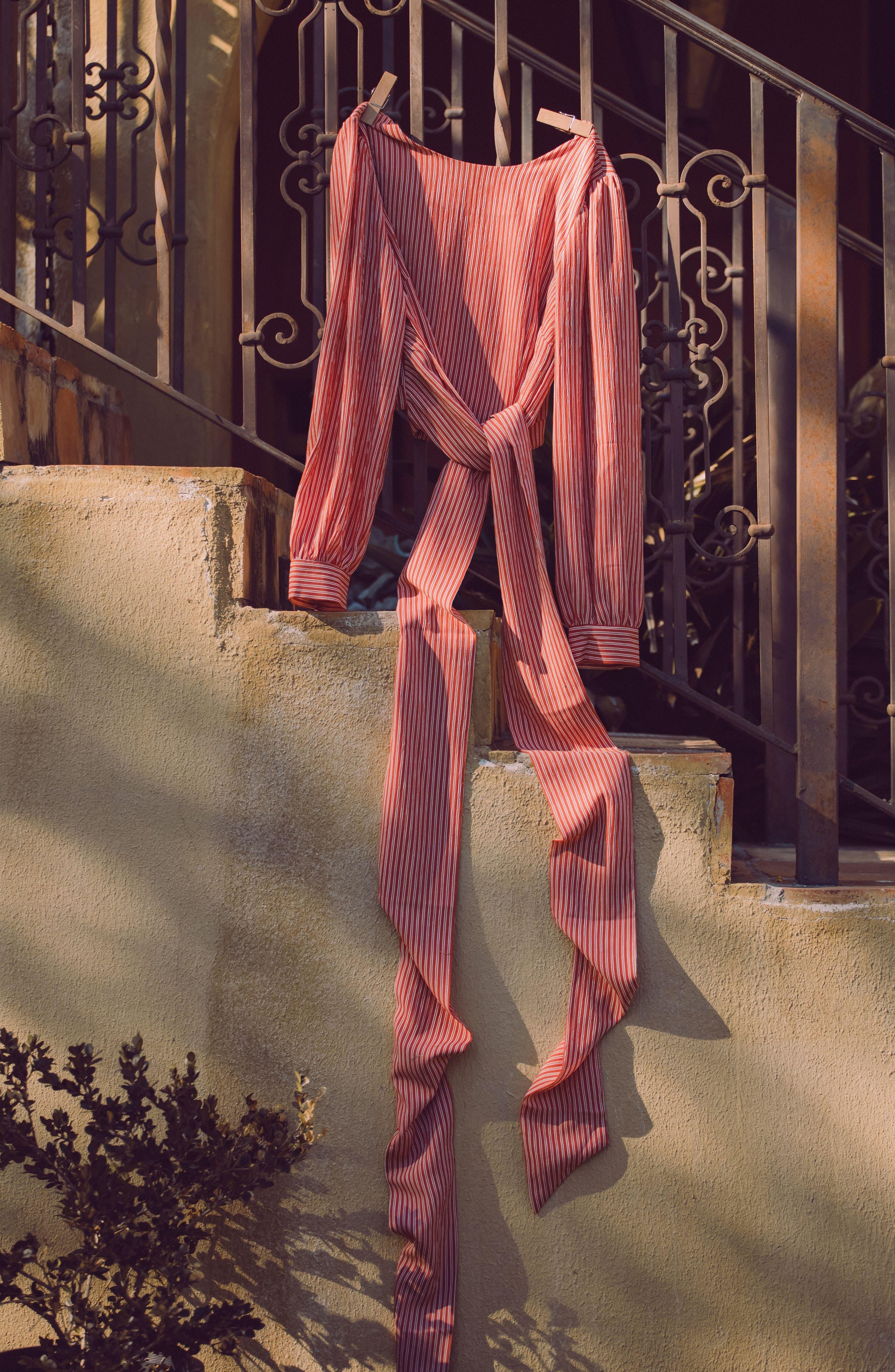 Alternate Image 4  - Chriselle x J.O.A. Tie Waist Top