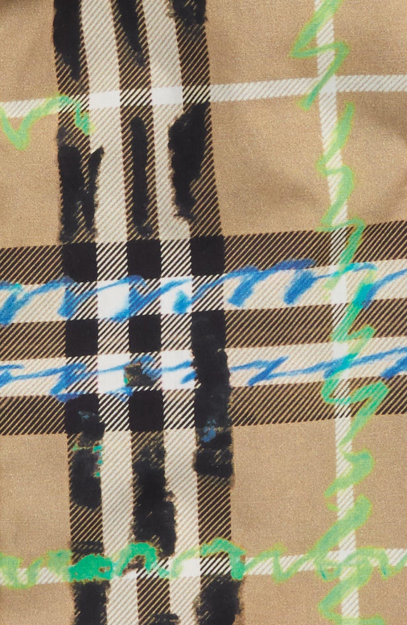 Clarkey Scribble Plaid Woven Shirt,                             Alternate thumbnail 2, color,                             Bright Blue