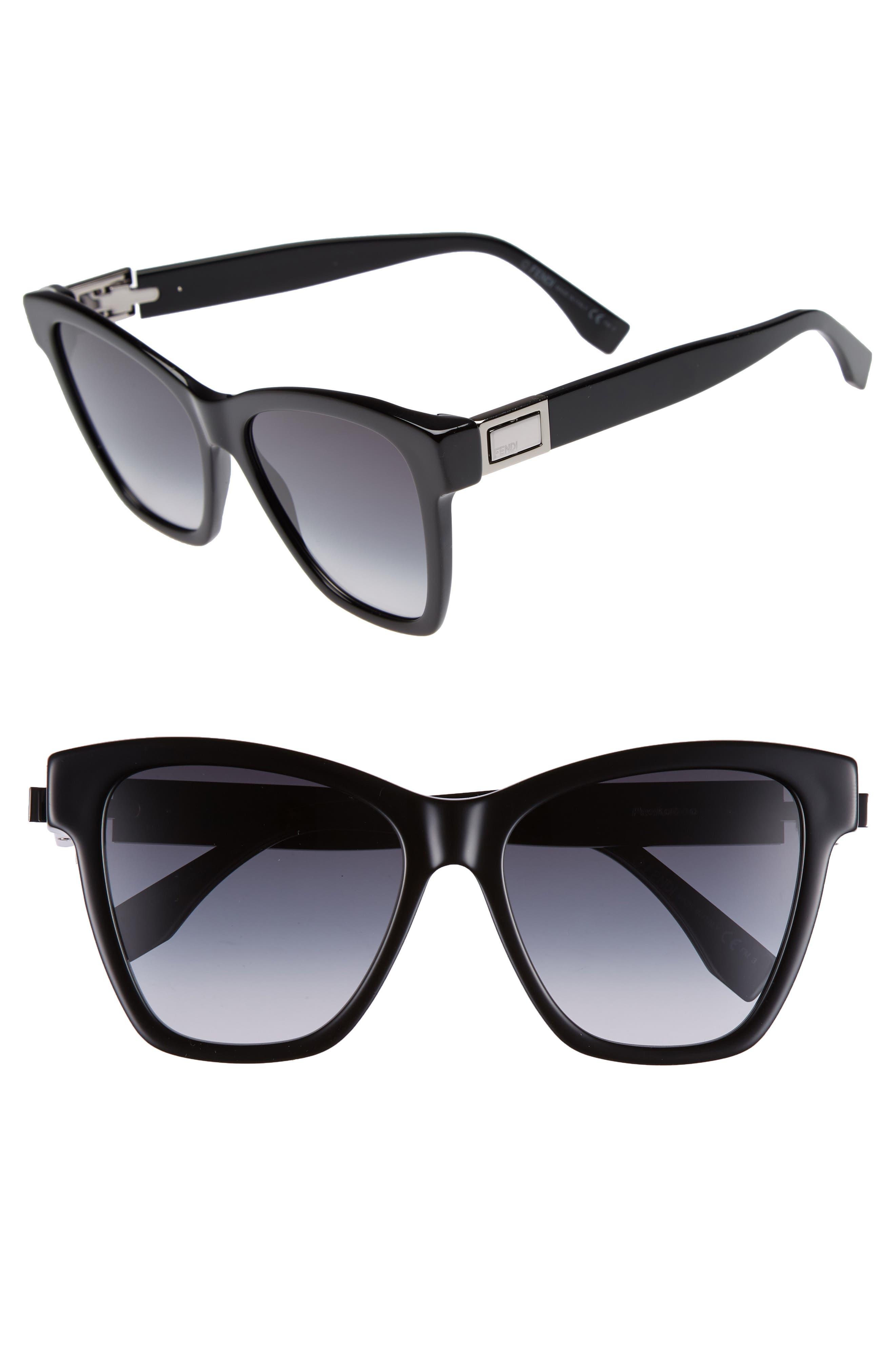 Basic 55mm Sunglasses,                             Main thumbnail 1, color,                             Black