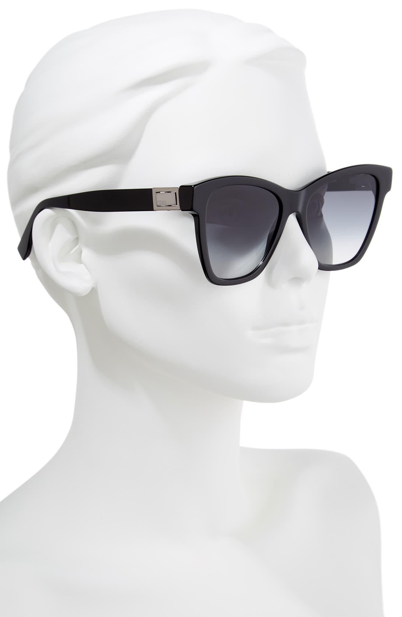 Basic 55mm Sunglasses,                             Alternate thumbnail 2, color,                             Black