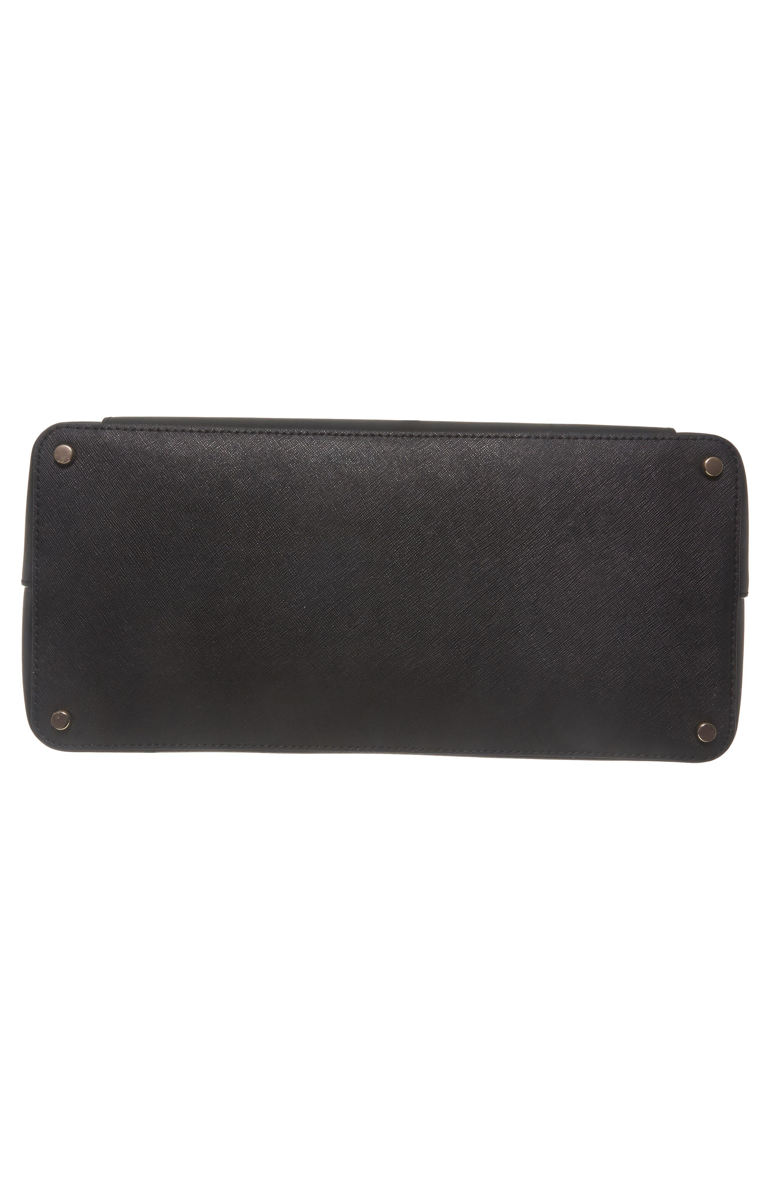 cameron street – audrey leather laptop tote,                             Alternate thumbnail 6, color,                             Black
