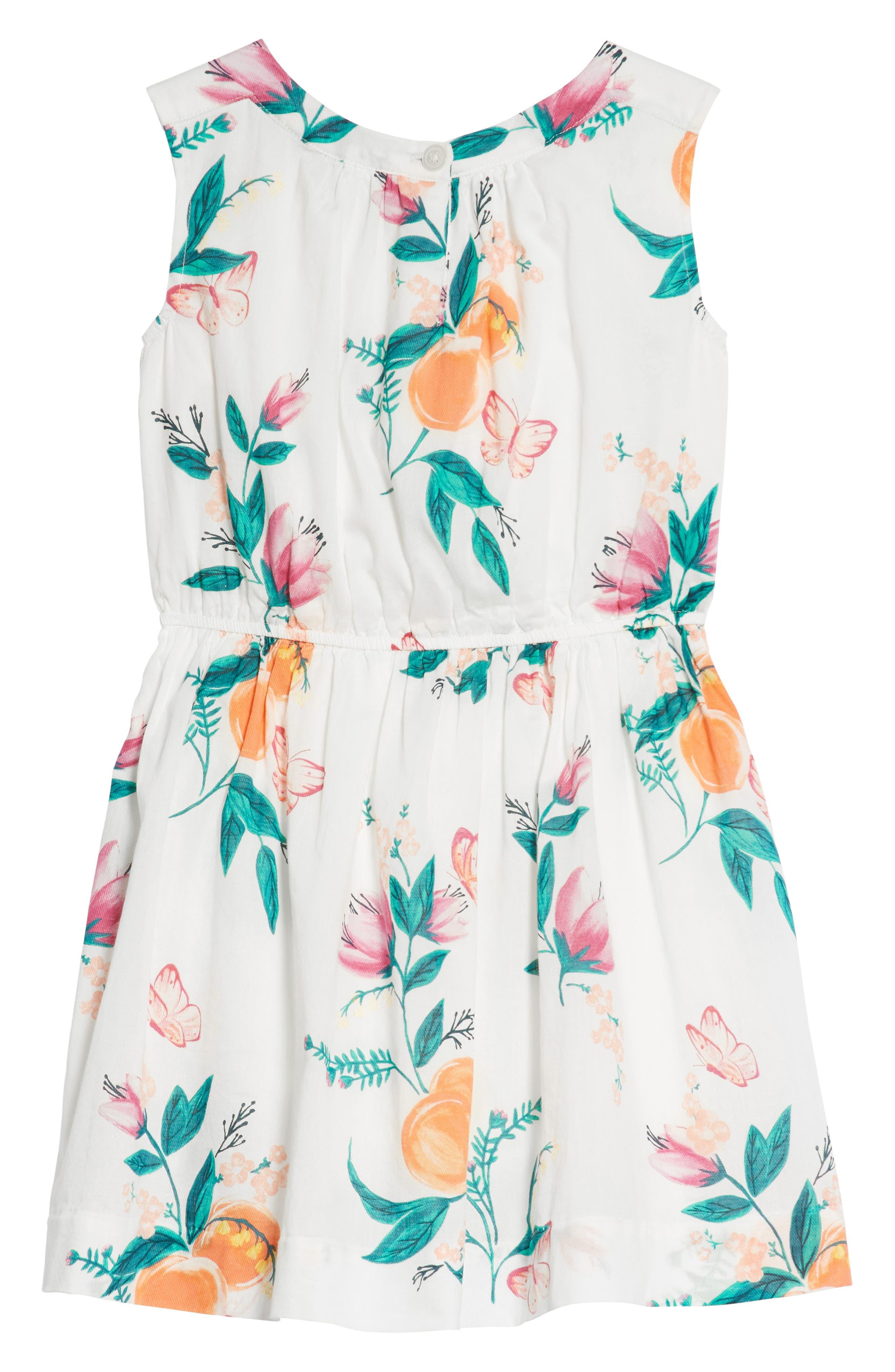 Peach Flower Dress,                             Alternate thumbnail 2, color,                             Georgia Peach