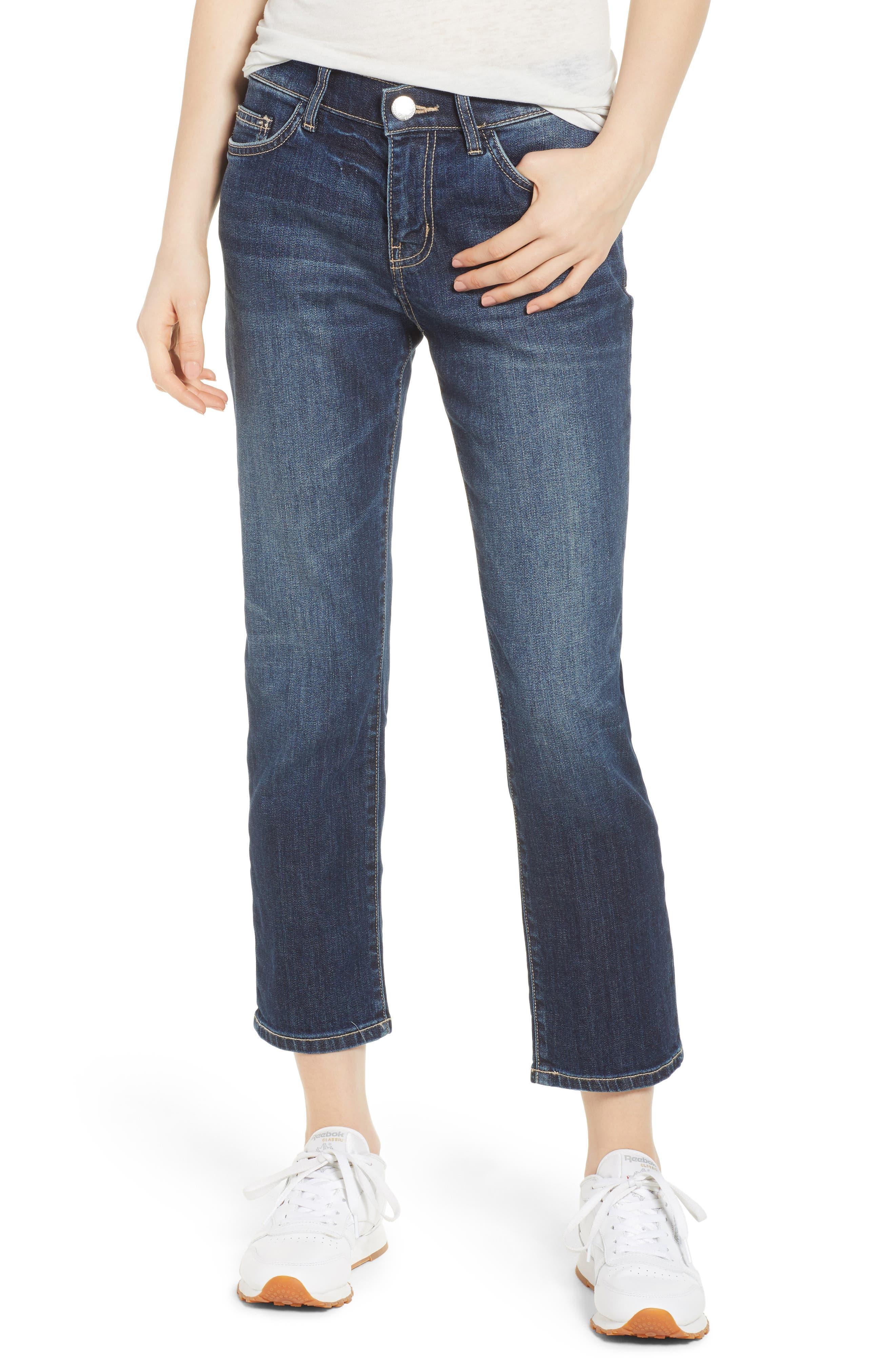 Current/Elliott The Cropped Straight Leg Jeans (Belloc)
