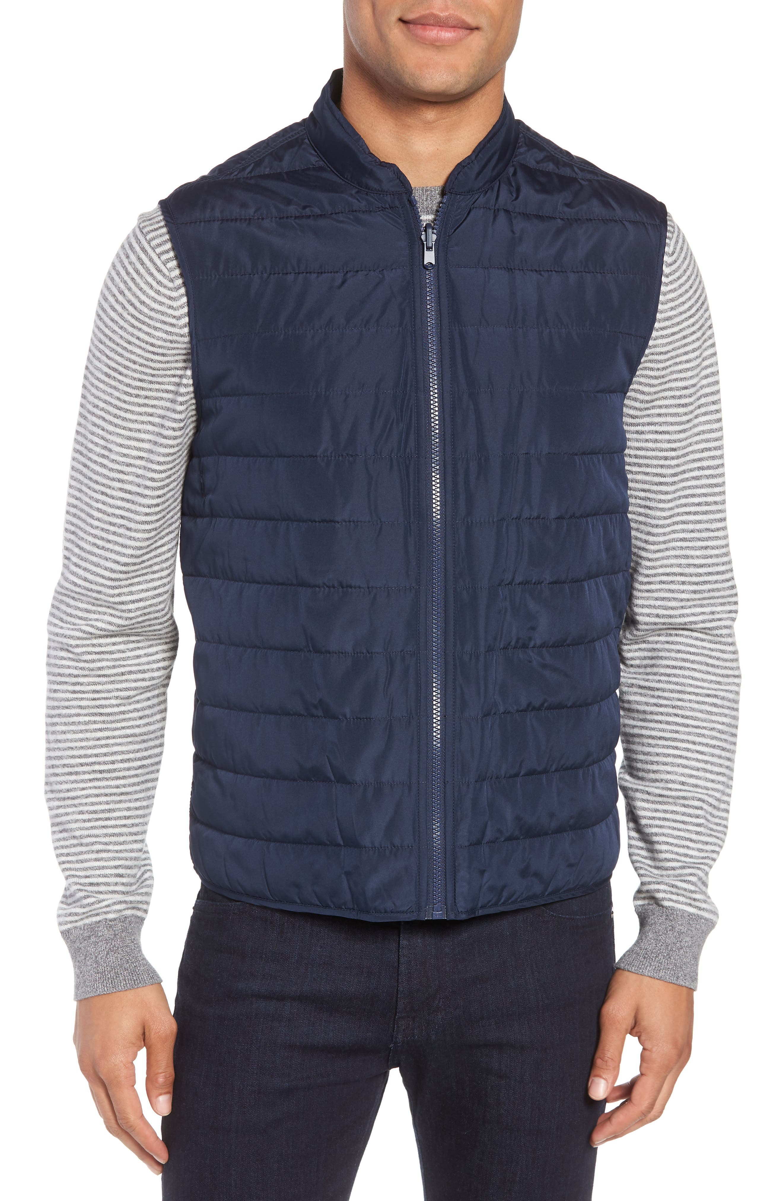 Oxford 2-in-1 Jacket,                             Alternate thumbnail 4, color,                             Navy