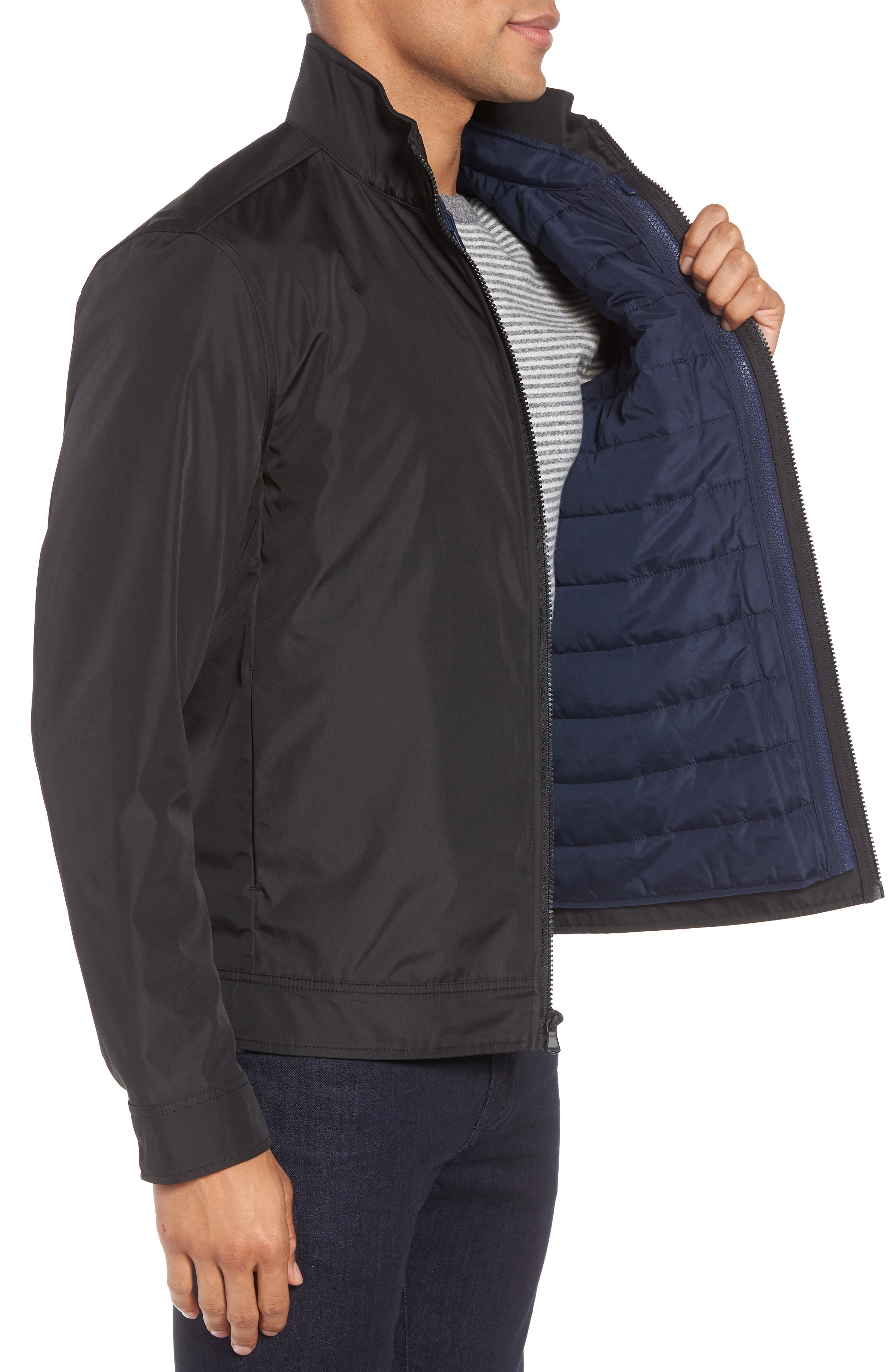 Oxford 2-in-1 Jacket,                             Alternate thumbnail 3, color,                             Navy