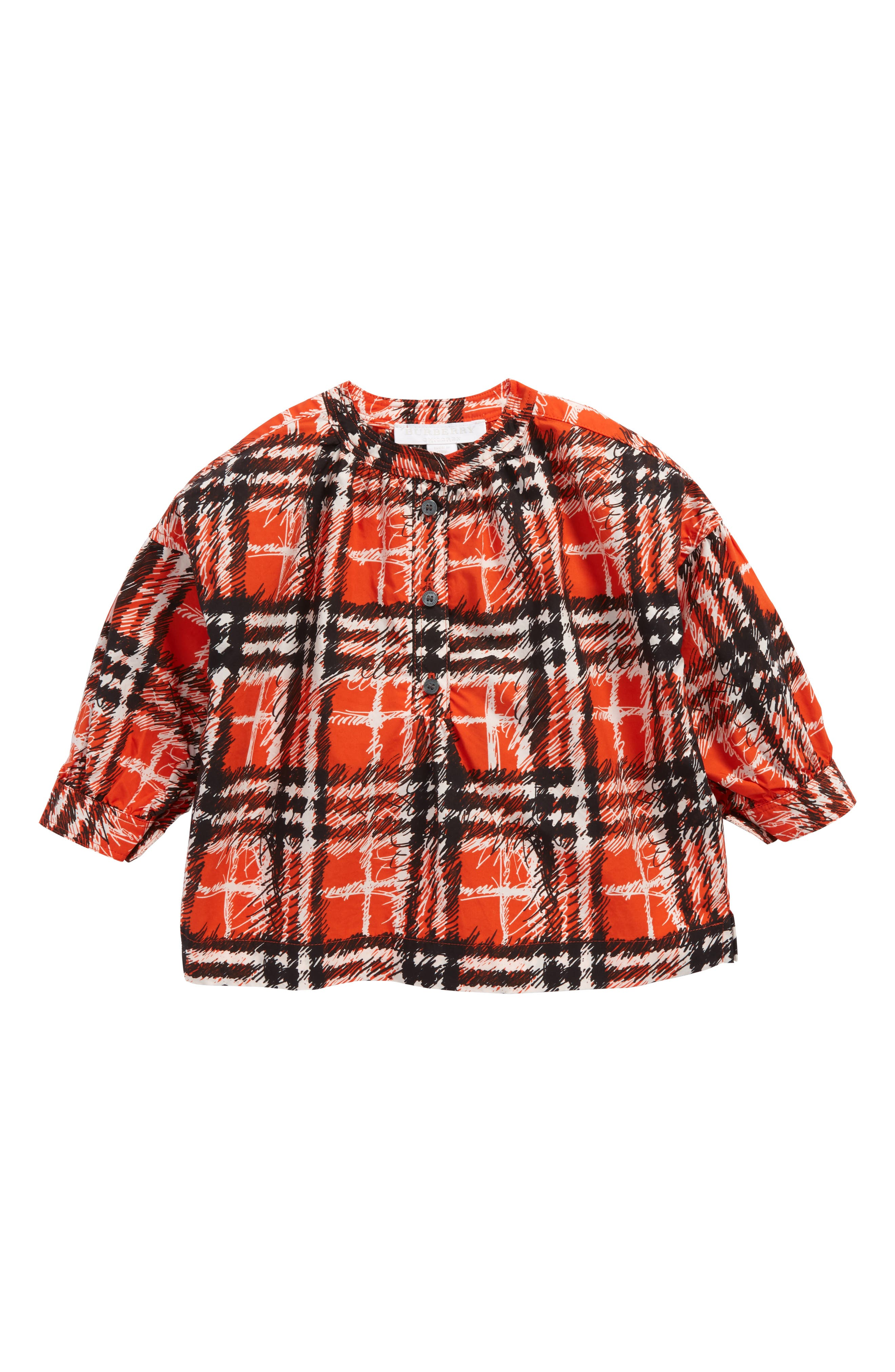 Alternate Image 1 Selected - Burberry Lola Scribble Check Tunic (Baby Girls)