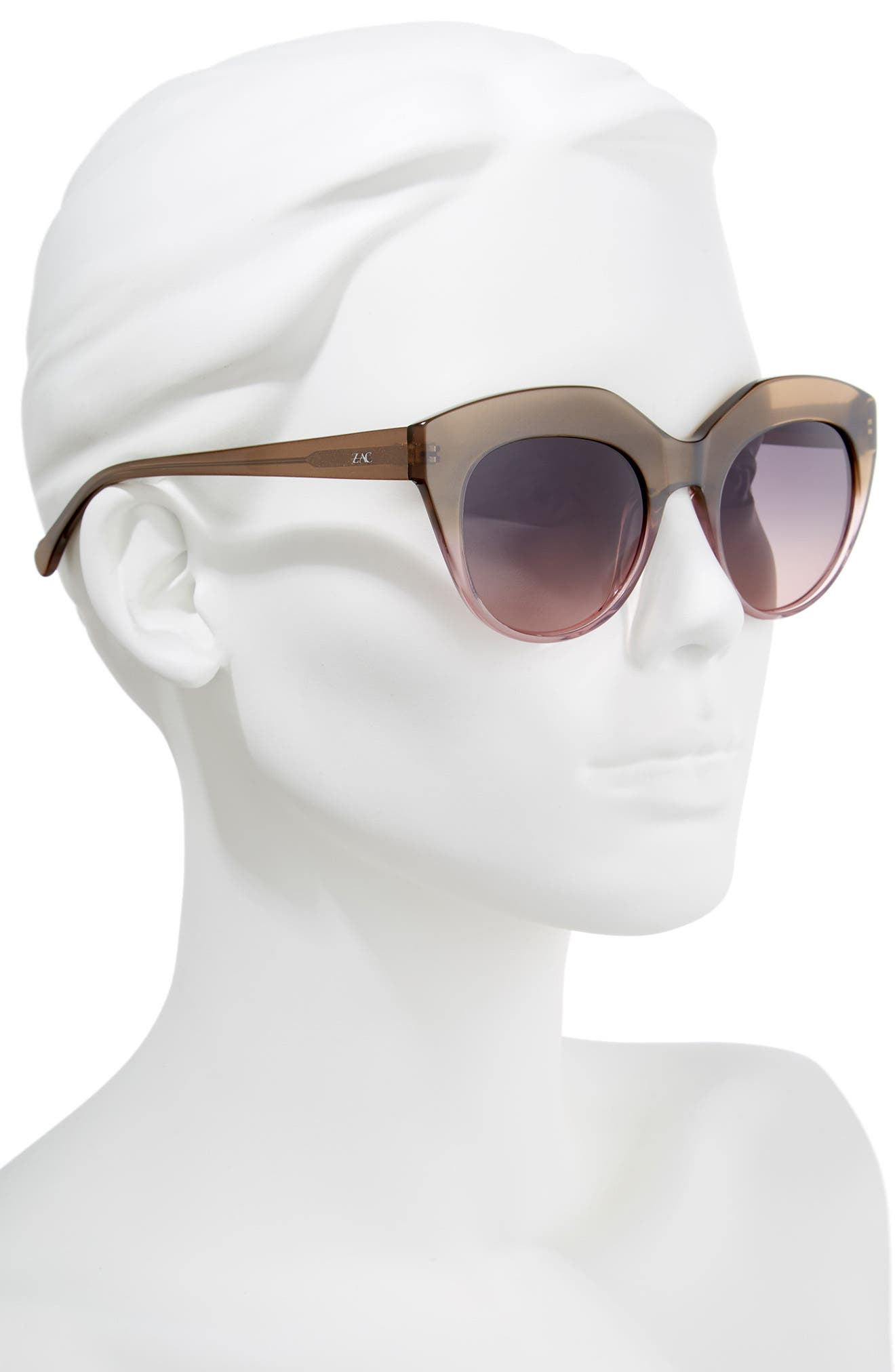 Tamika 53mm Polarized Sunglasses,                             Alternate thumbnail 2, color,                             Dessert/ Berry