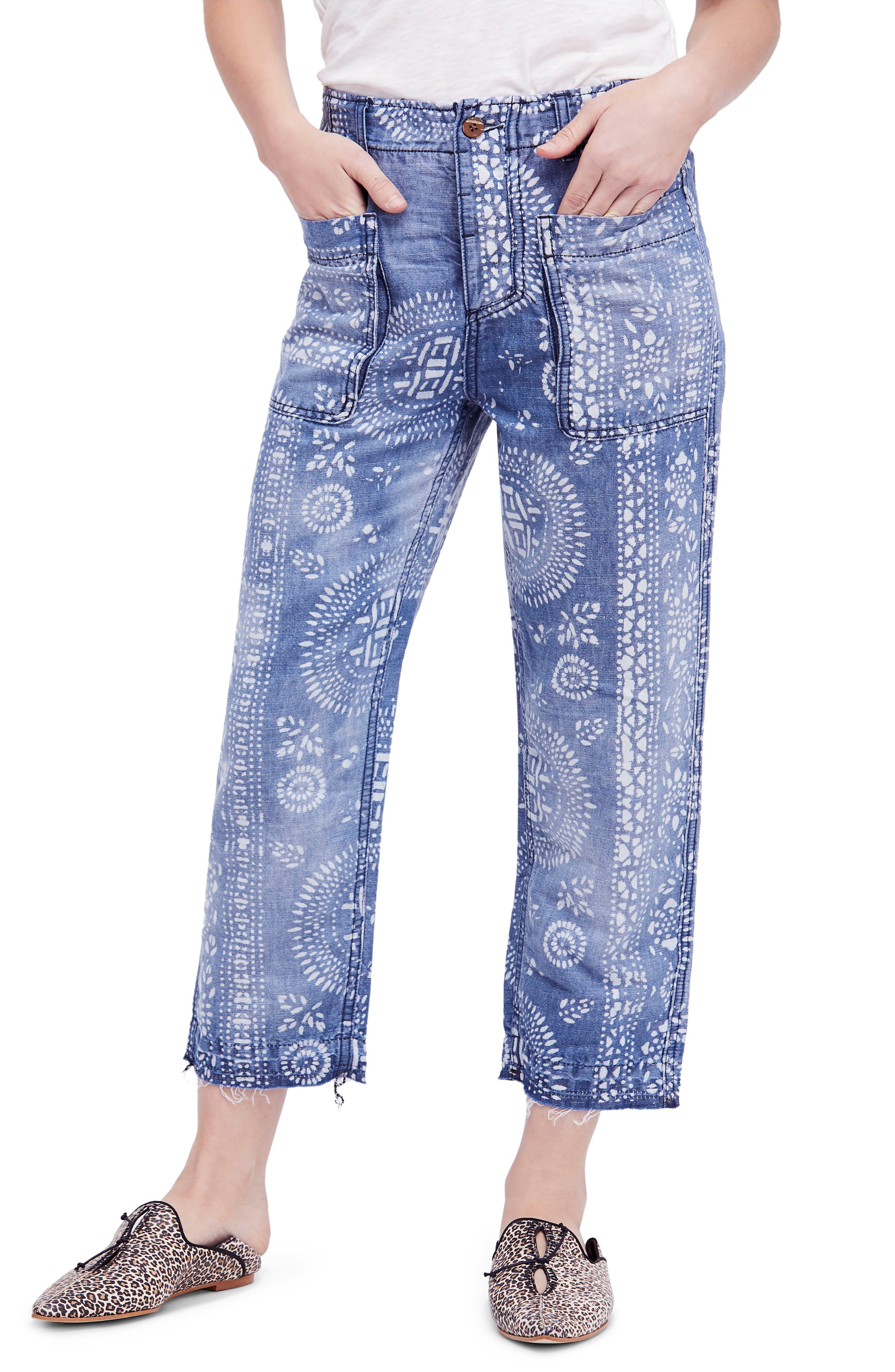 Island Vibes Discharge Trousers,                         Main,                         color, Blue