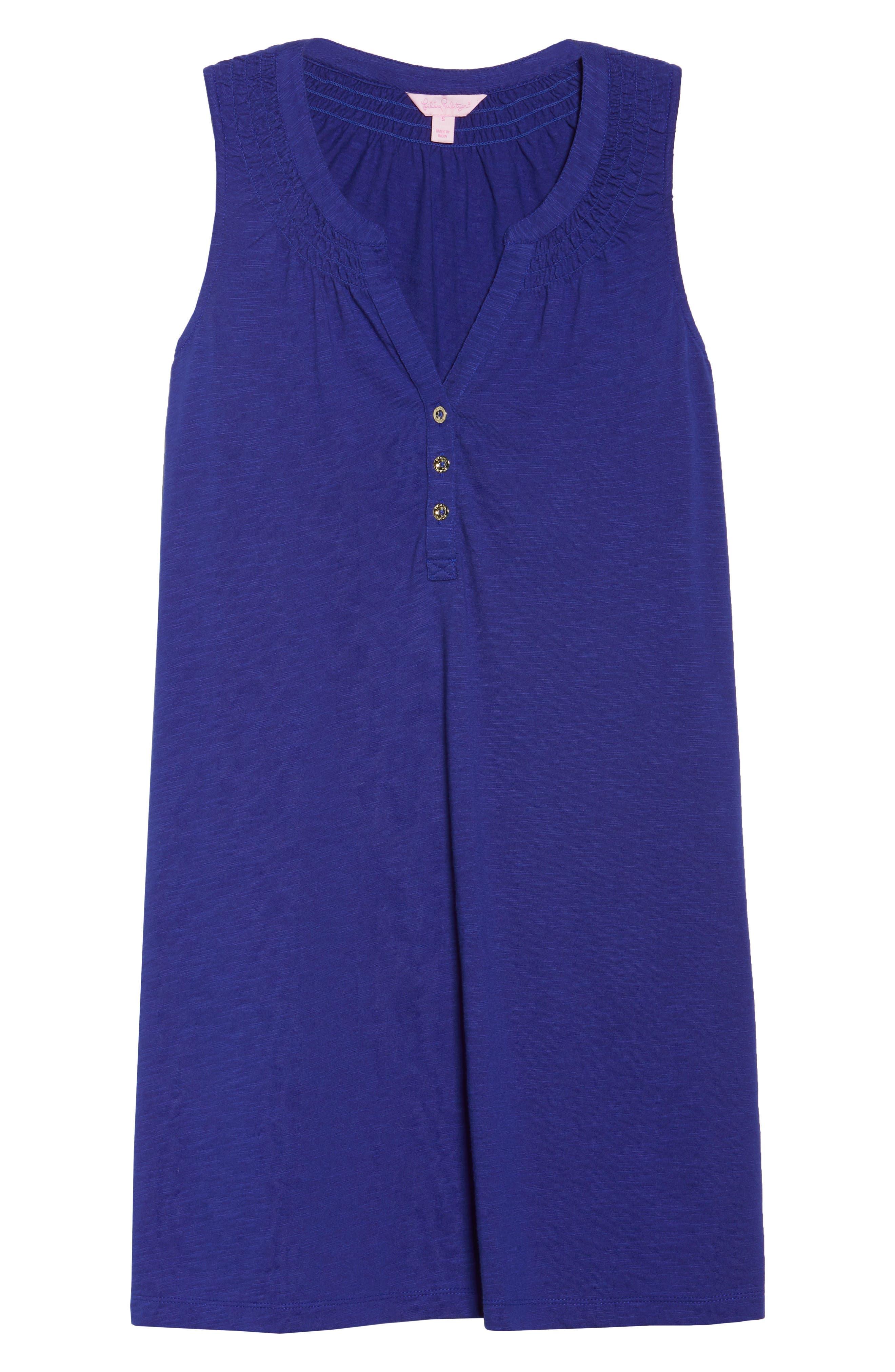 Essie Shift Dress,                             Alternate thumbnail 7, color,                             Twilight Blue