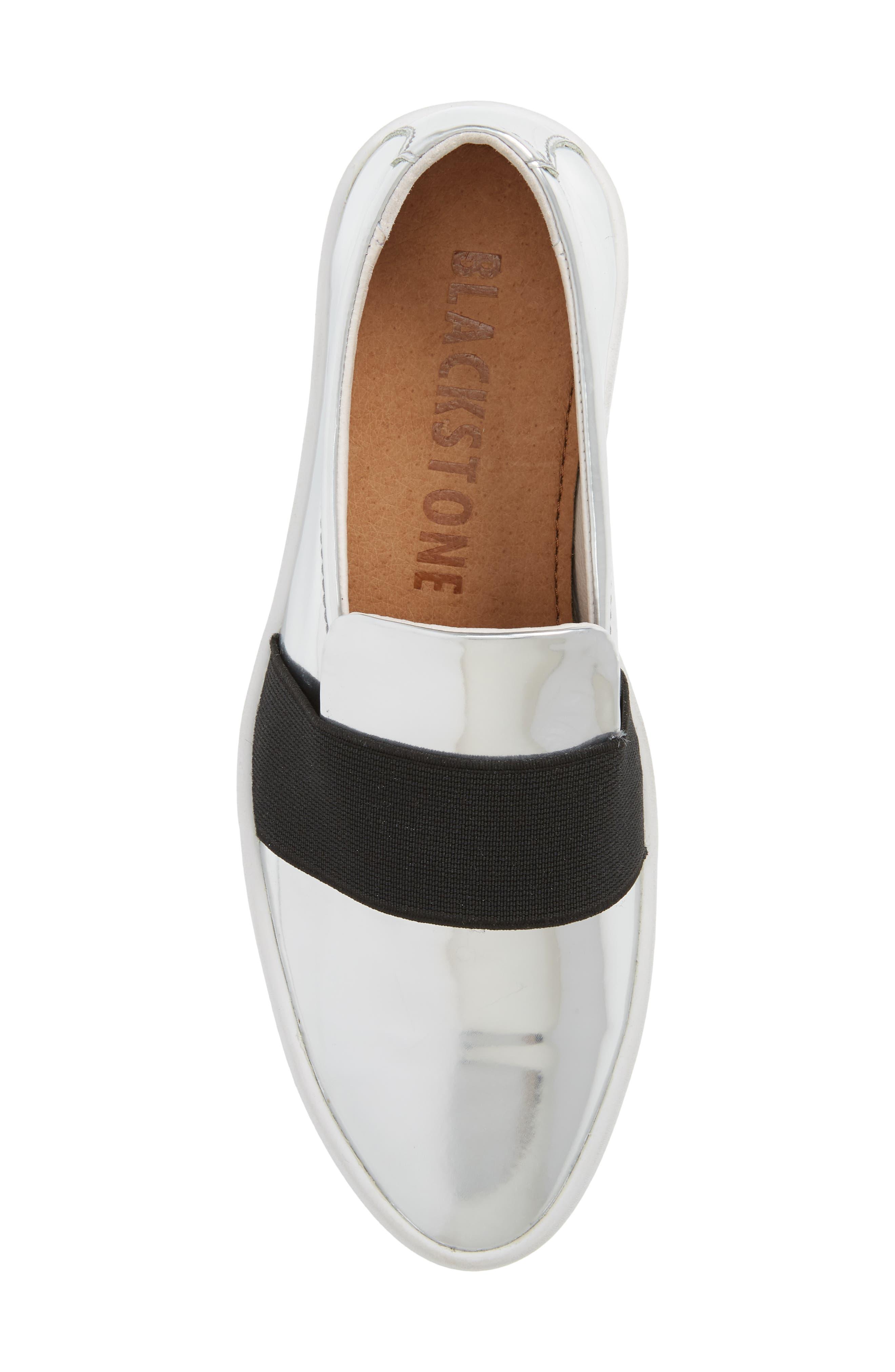 PL99 Slip-On Sneaker,                             Alternate thumbnail 5, color,                             Silver Leather