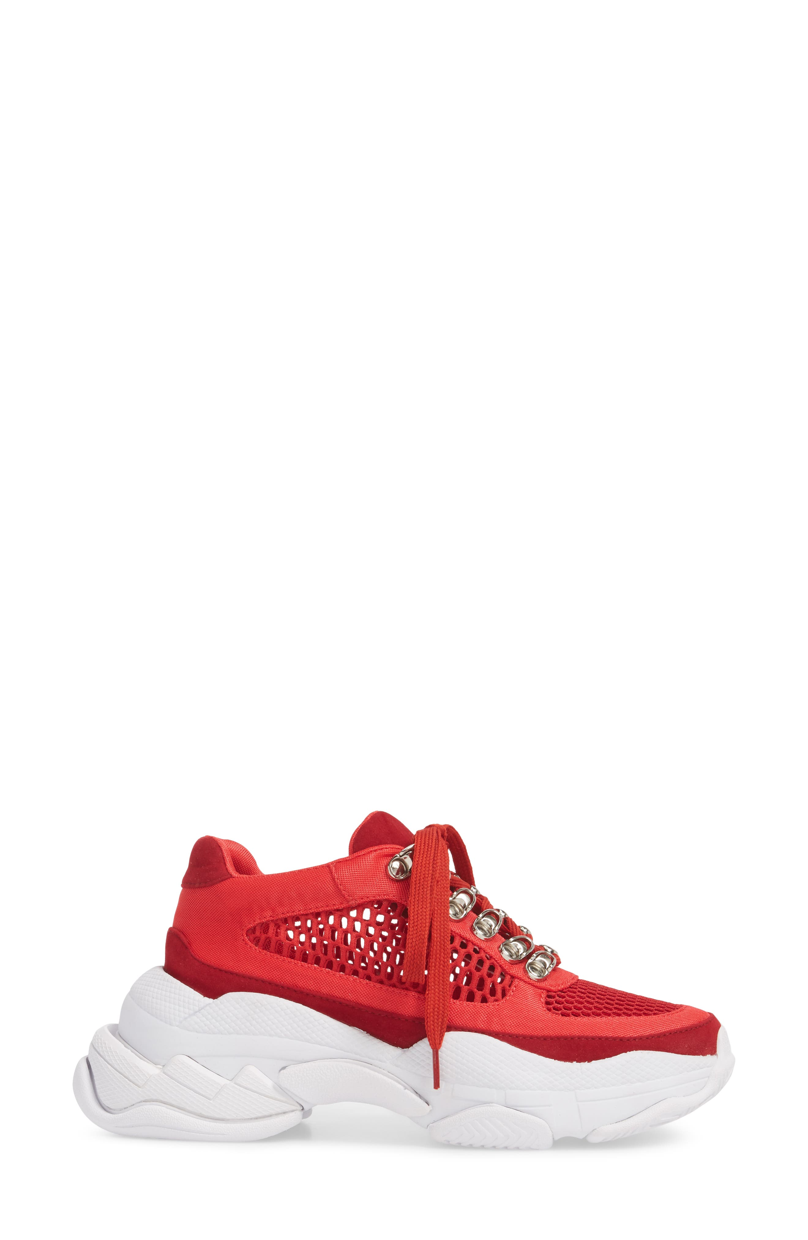 Hotspot Lace-Up Sneaker,                             Alternate thumbnail 3, color,                             Red