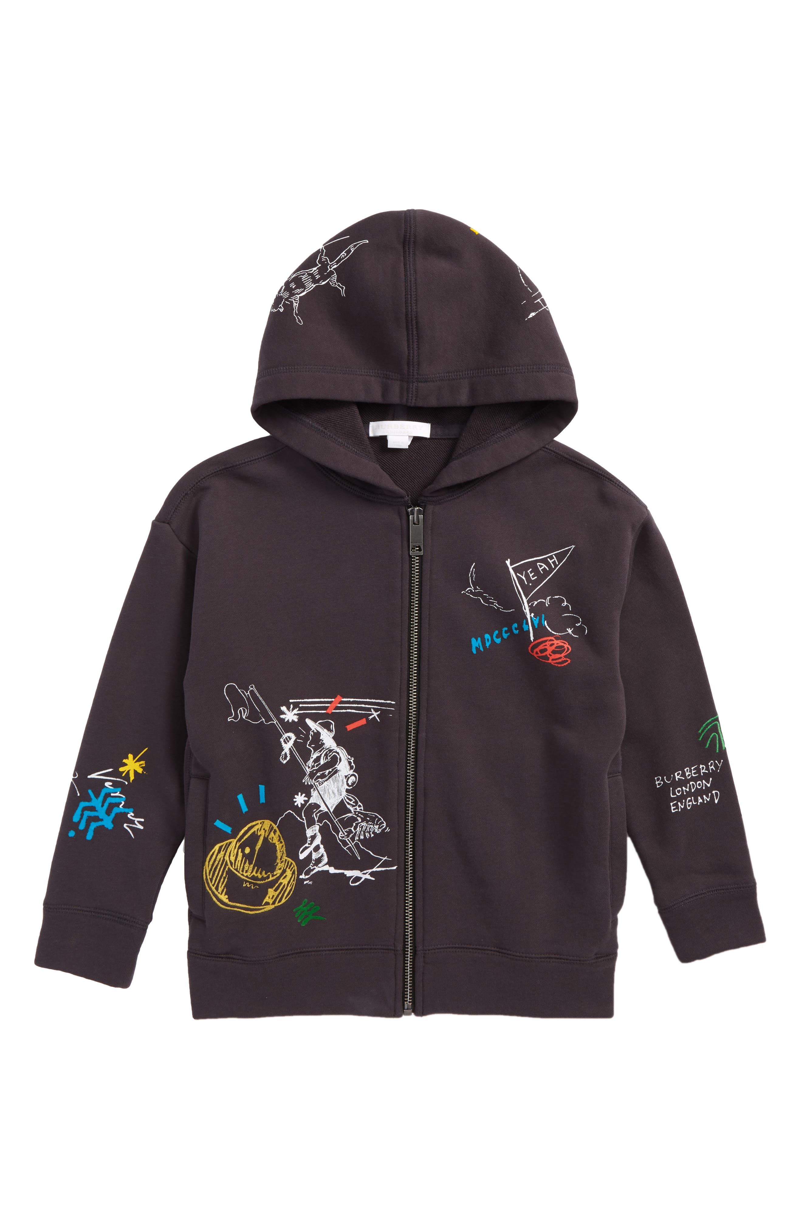 Sailing Graphic Hoodie,                         Main,                         color, Charcoal