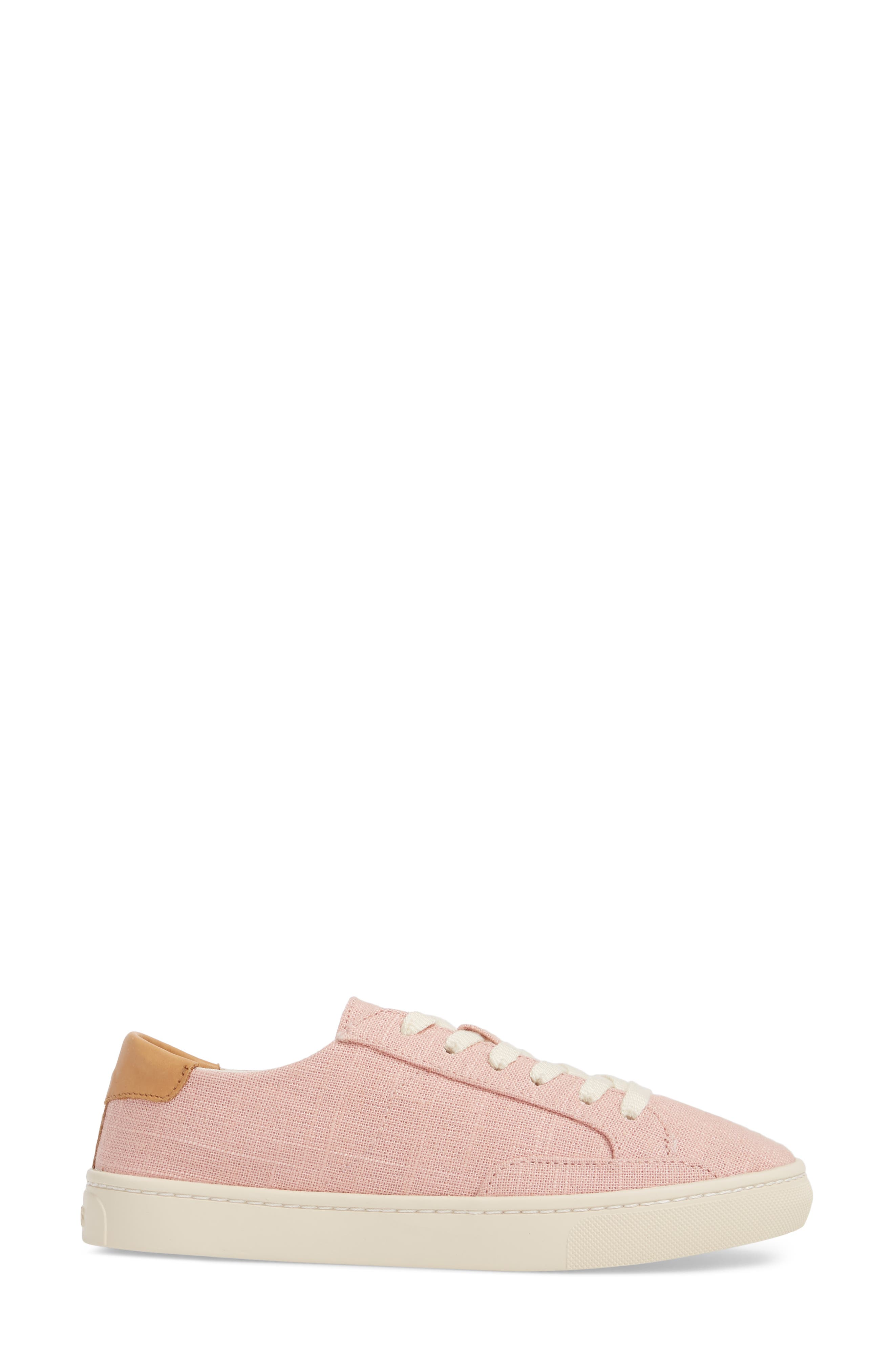 Ibiza Sneaker,                             Alternate thumbnail 3, color,                             Dusty Rose Fabric