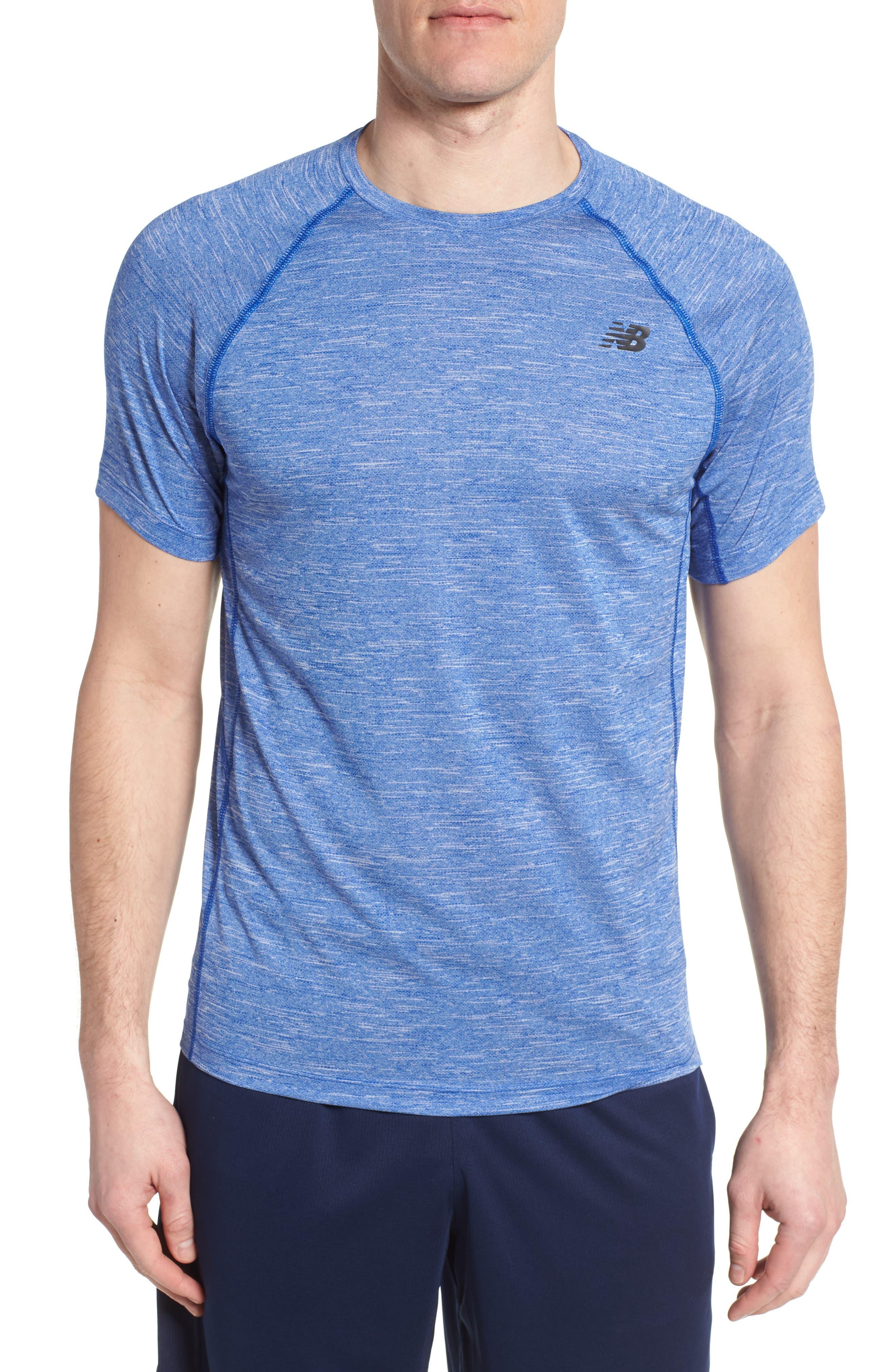 Tenacity Crewneck T-Shirt,                         Main,                         color, Team Royal