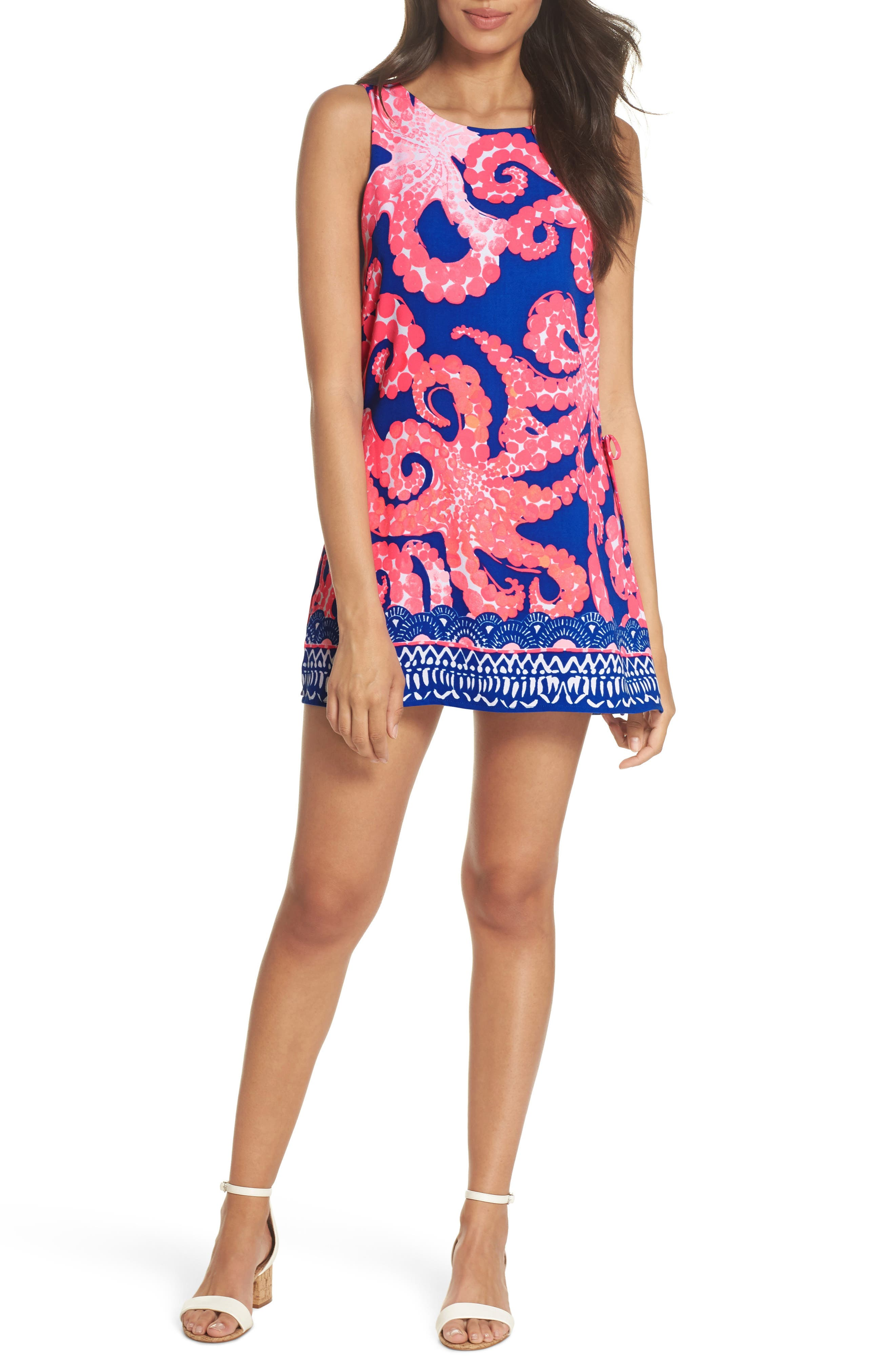 Donna Romper Dress,                         Main,                         color, Ikat Blue Mocean