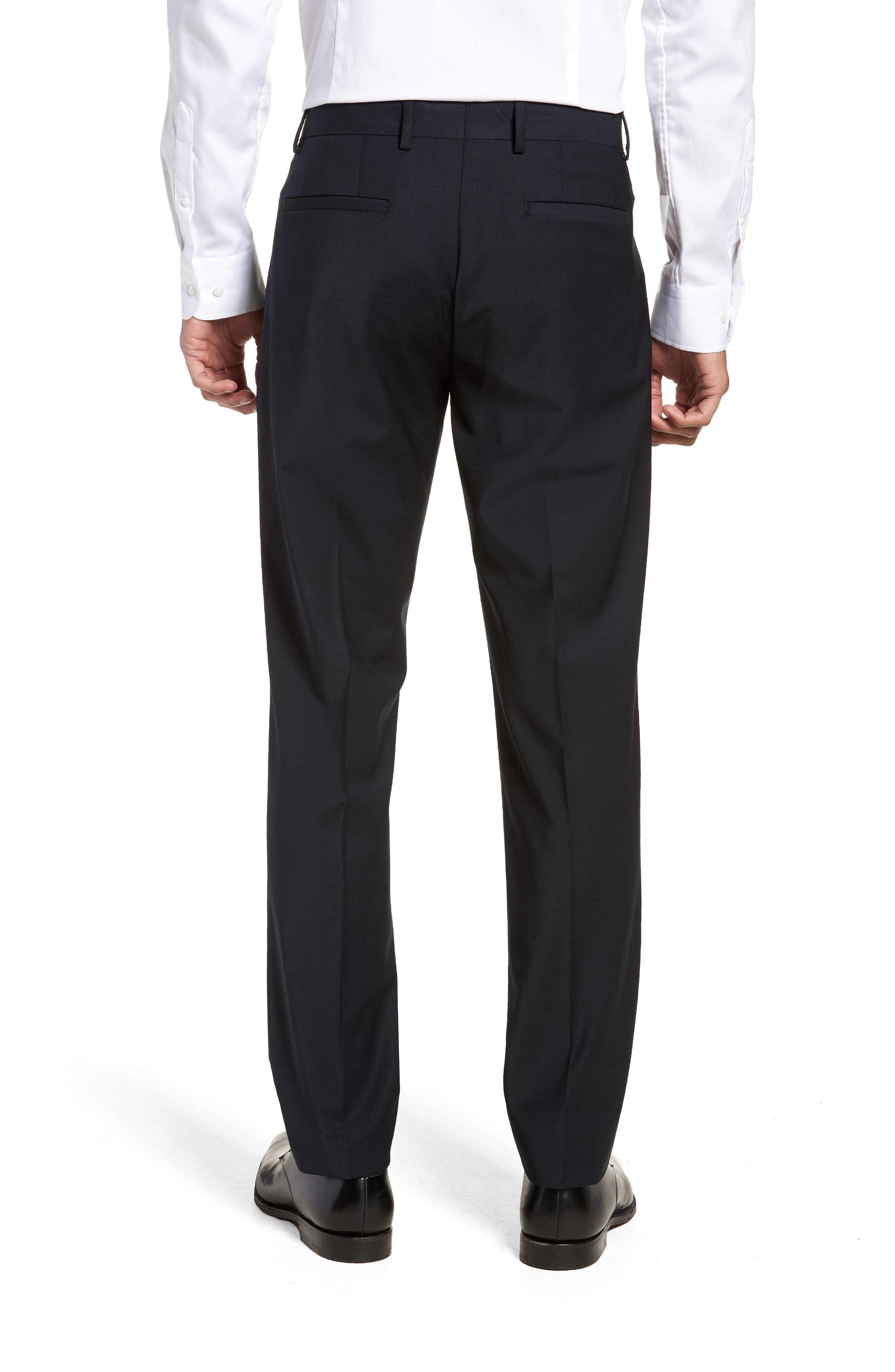 Alternate Image 2  - Eleventy Pleat Front Stretch Solid Wool Trousers
