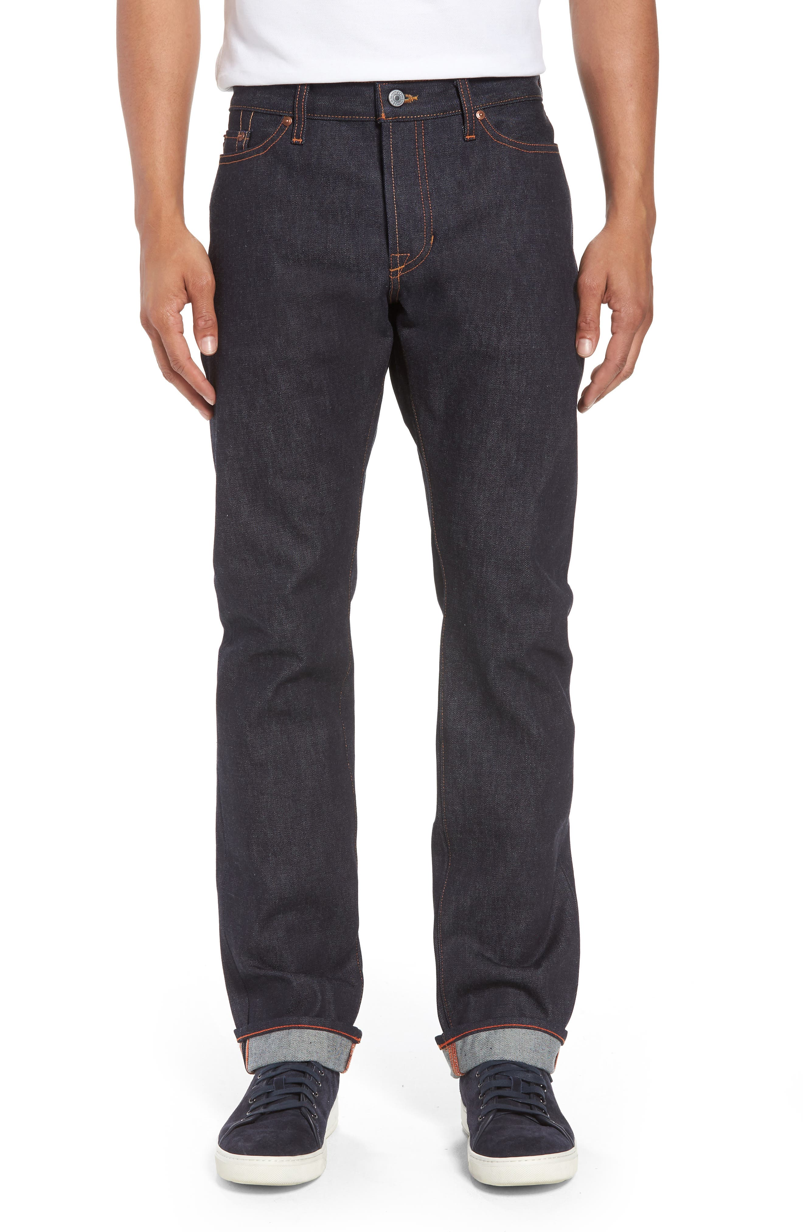 Bowie Slim Straight Leg Jeans,                             Main thumbnail 1, color,                             Raw