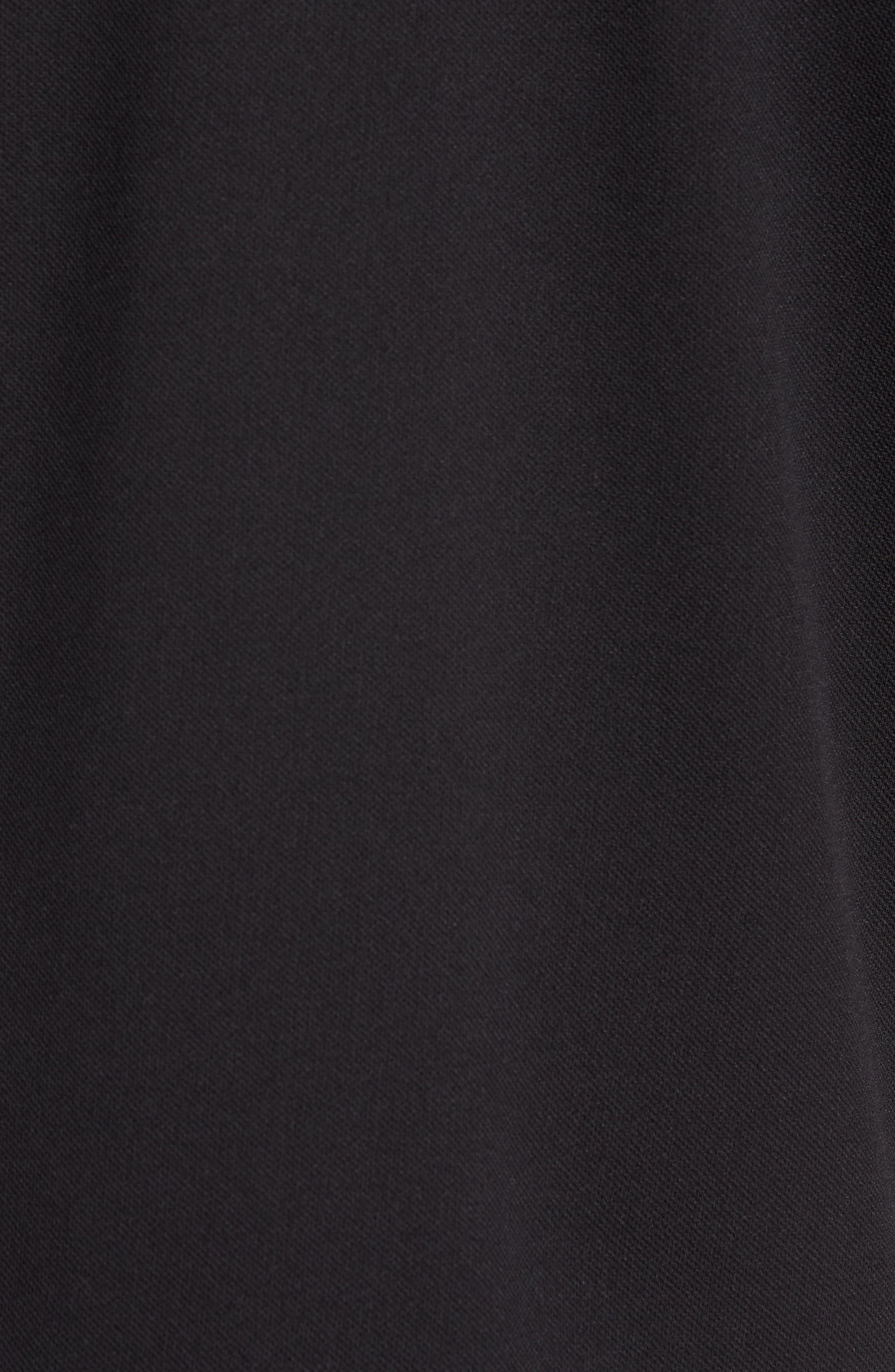 Performance Quarter Zip Pullover,                             Alternate thumbnail 5, color,                             Black/ Black