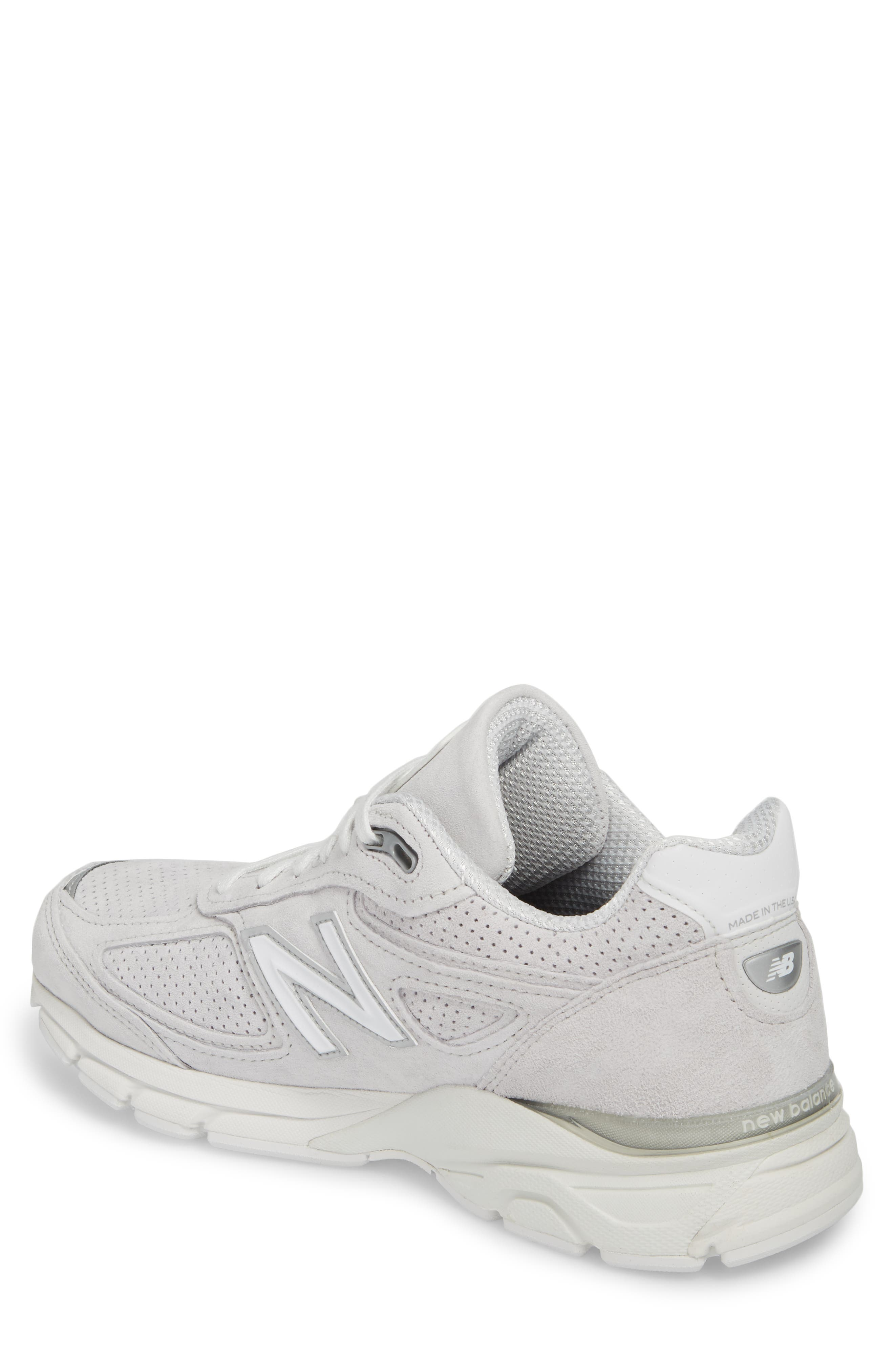 990v4 Perforated Sneaker,                             Alternate thumbnail 2, color,                             Arctic Fox