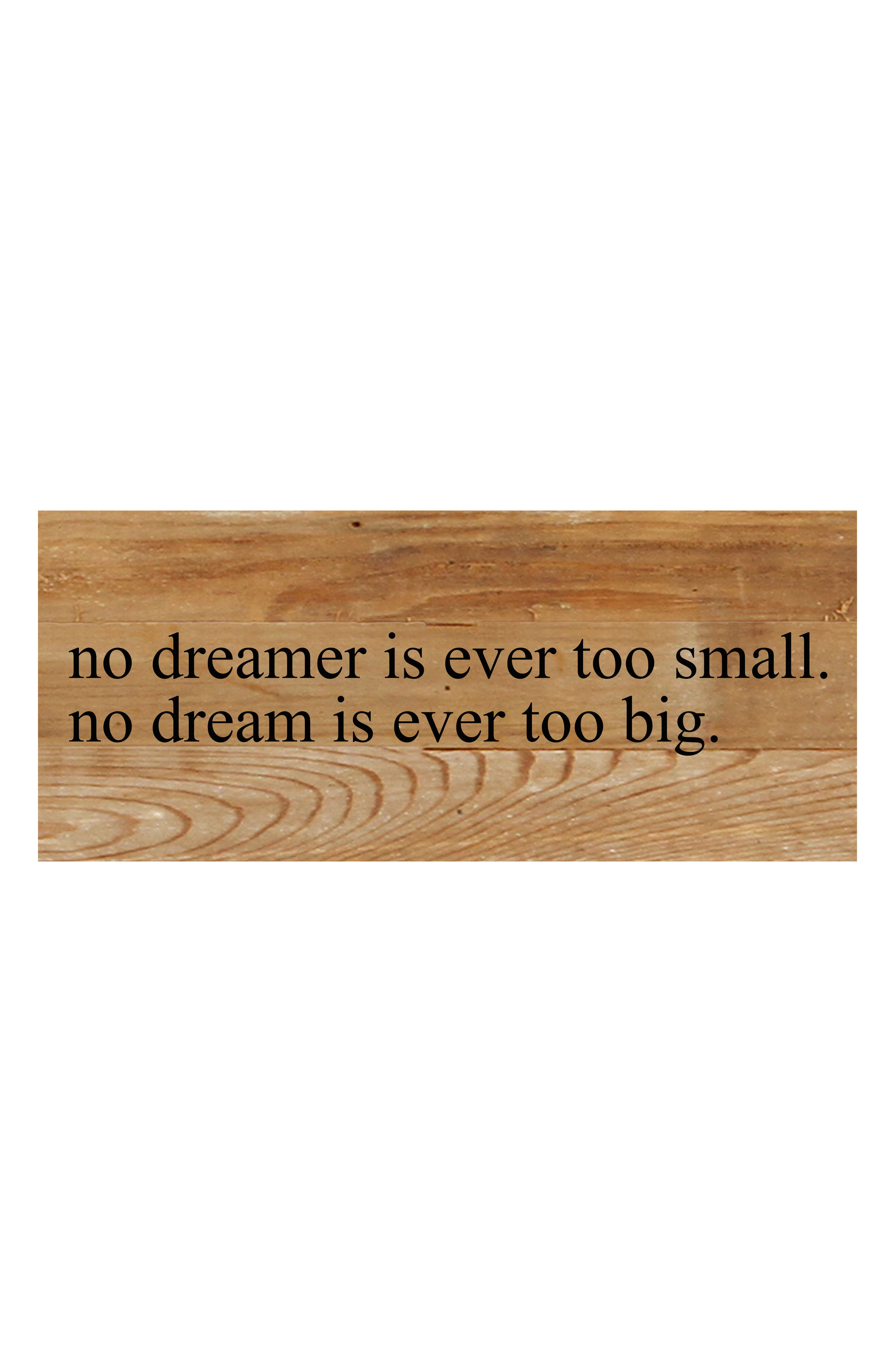 Second Nature by Hand No Dream Too Big Repurposed Wood Wall Art