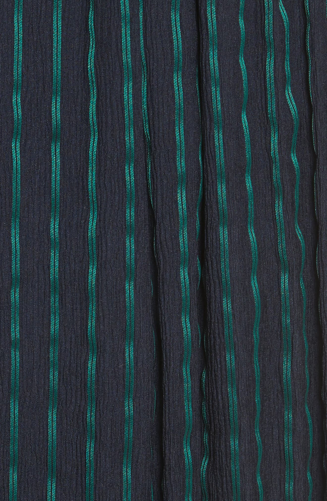 Stripe Chiffon Dress,                             Alternate thumbnail 5, color,                             Midnight/ Emerald